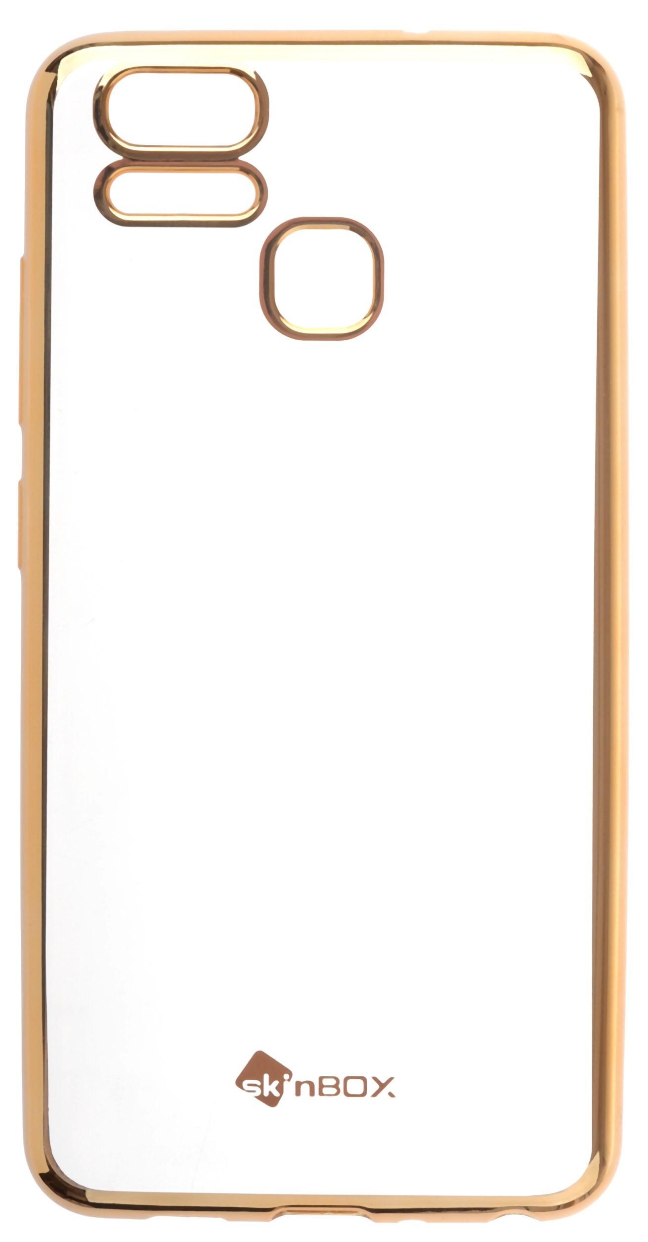 Чехол для сотового телефона skinBOX Silicone chrome border, 4630042524453, золотой skinbox 4people slim silicone чехол накладка для xiaomi redmi 4a transparent