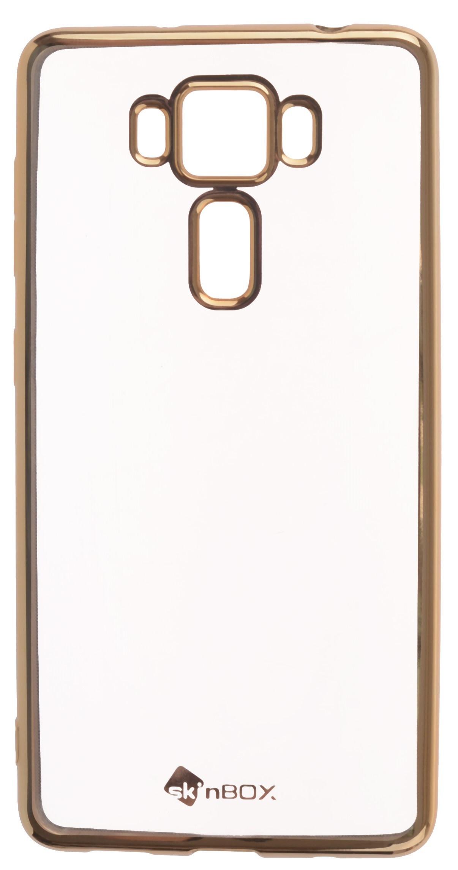 Чехол для сотового телефона skinBOX Silicone chrome border, 4630042524538, золотой skinbox silicone chrome border 4people чехол для xiaomi redmi 4 silver