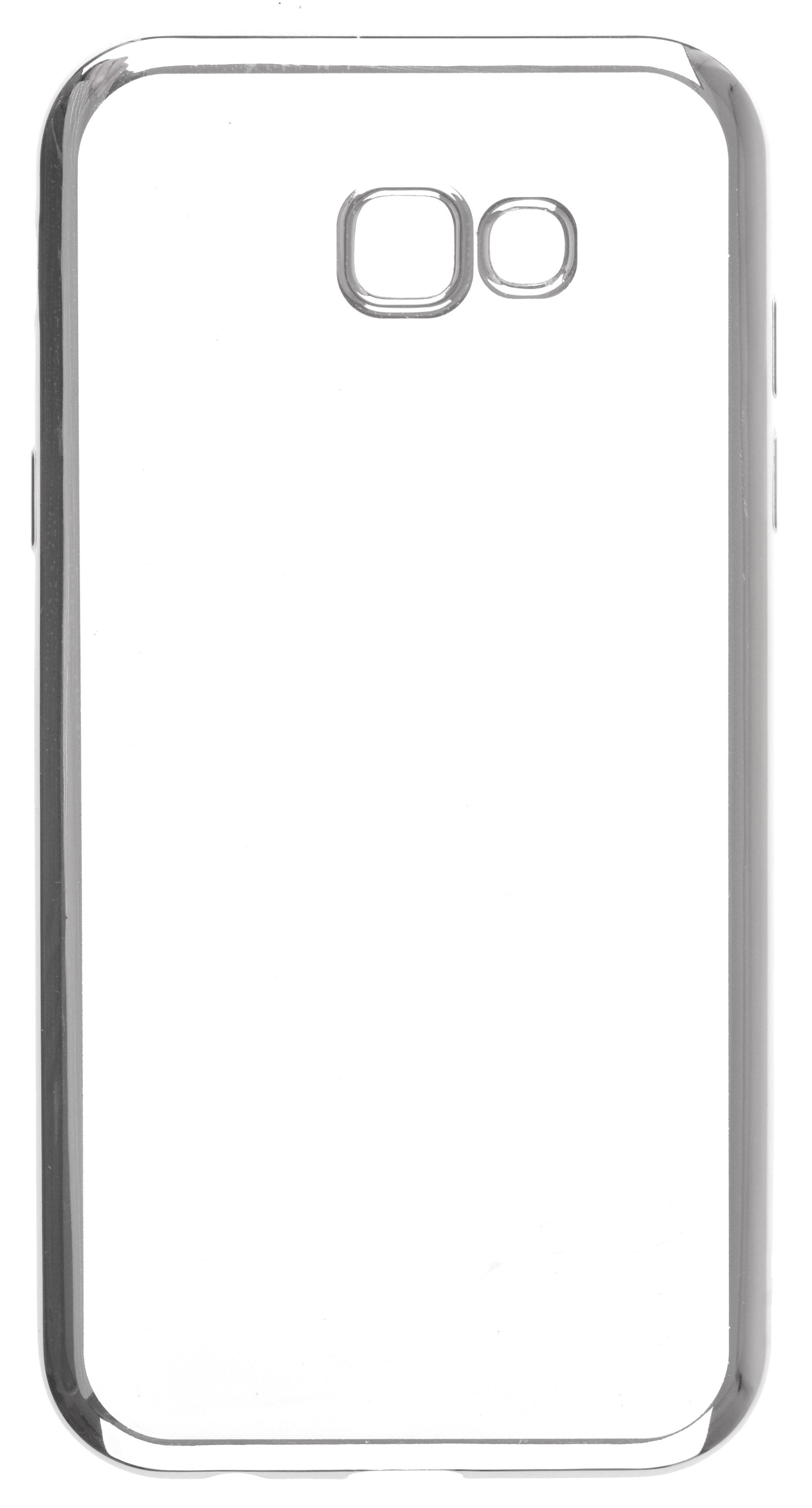 Чехол для сотового телефона skinBOX Silicone chrome border, 4630042524552, серебристый чехол для сотового телефона skinbox silicone chrome border 4630042524514 серебристый