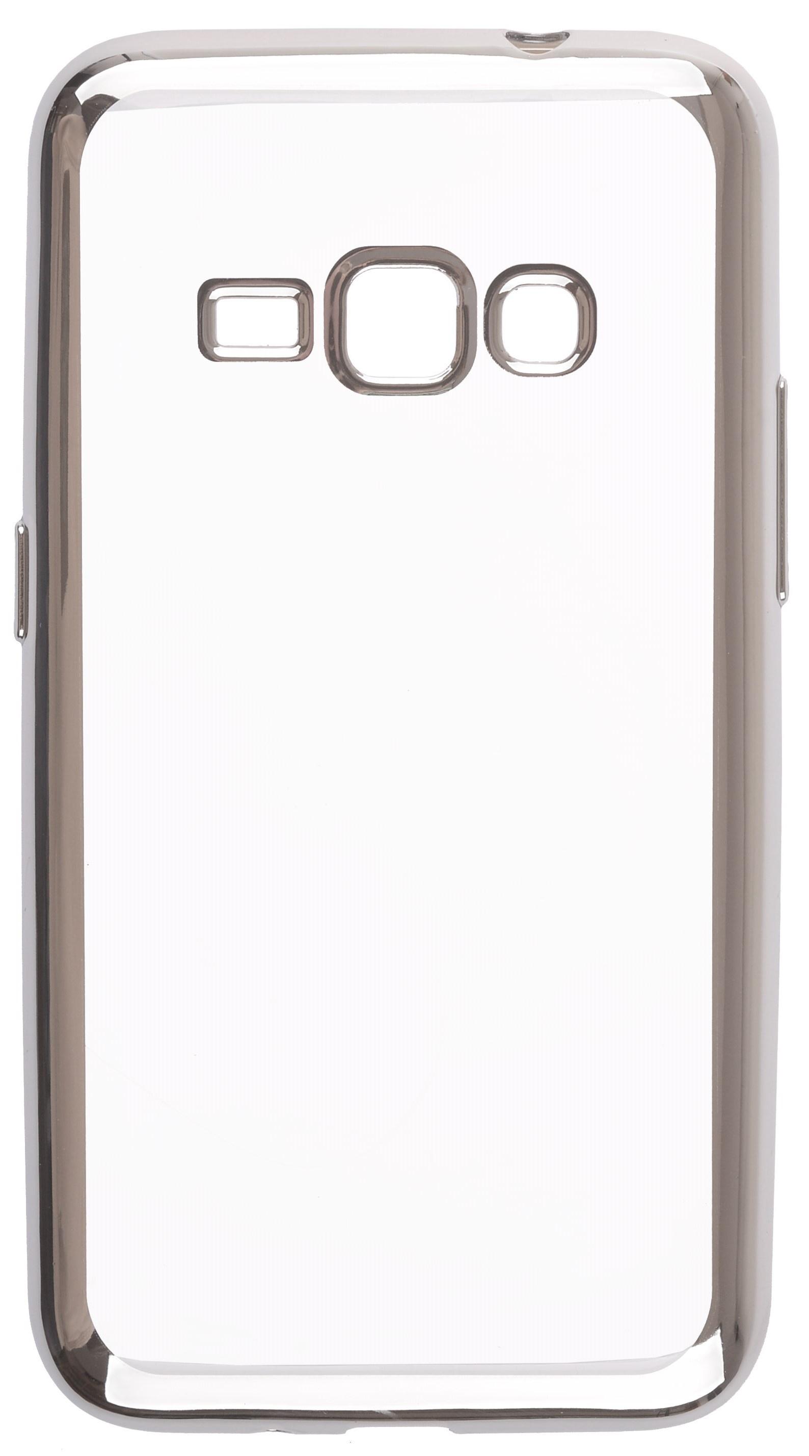 Чехол для сотового телефона skinBOX Silicone chrome border, 4630042524699, серебристый чехол для сотового телефона skinbox silicone chrome border 4630042528697 серебристый