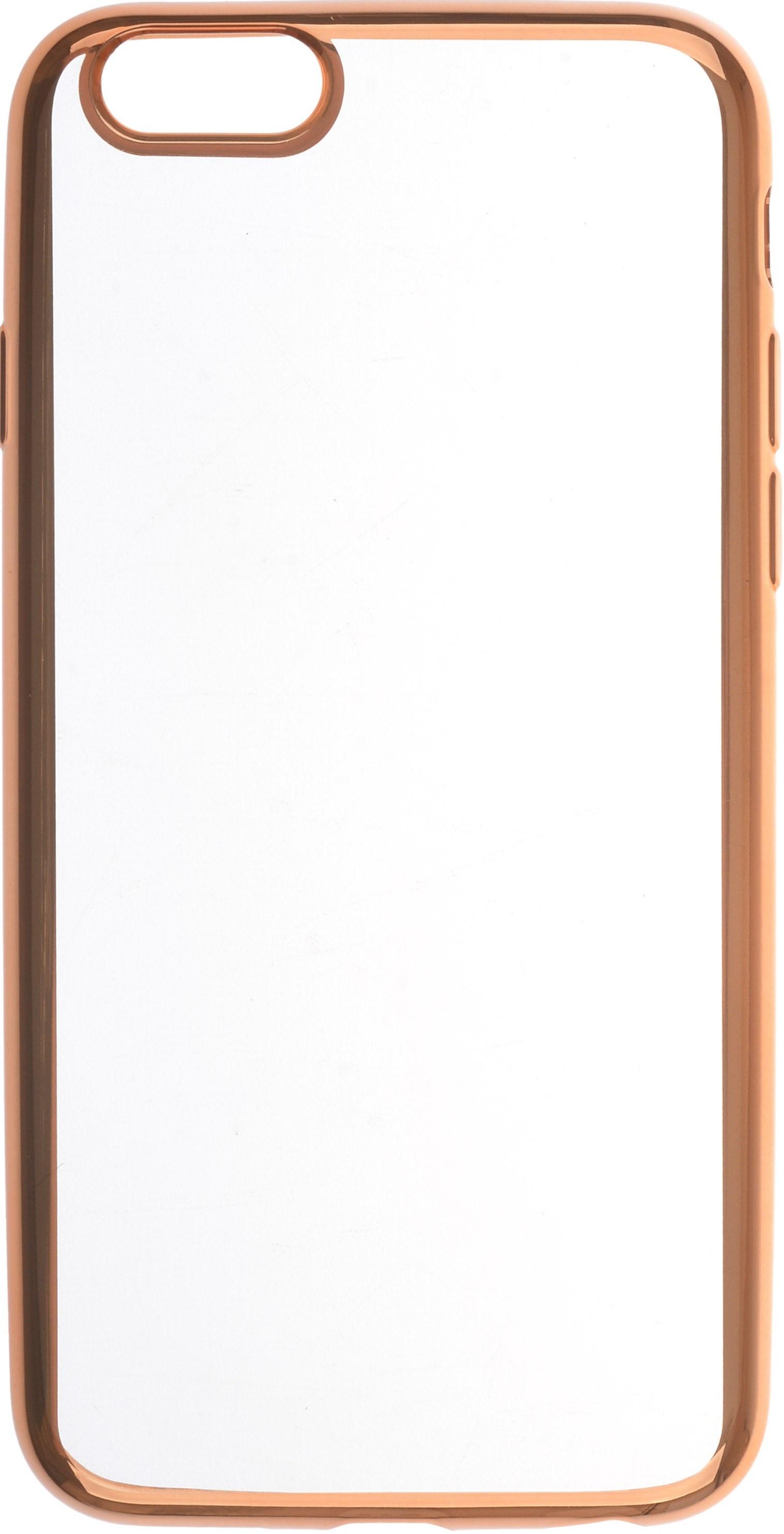 Чехол для сотового телефона skinBOX Silicone chrome border, 4630042524941, золотой skinbox 4people slim silicone чехол накладка для xiaomi redmi 4a transparent