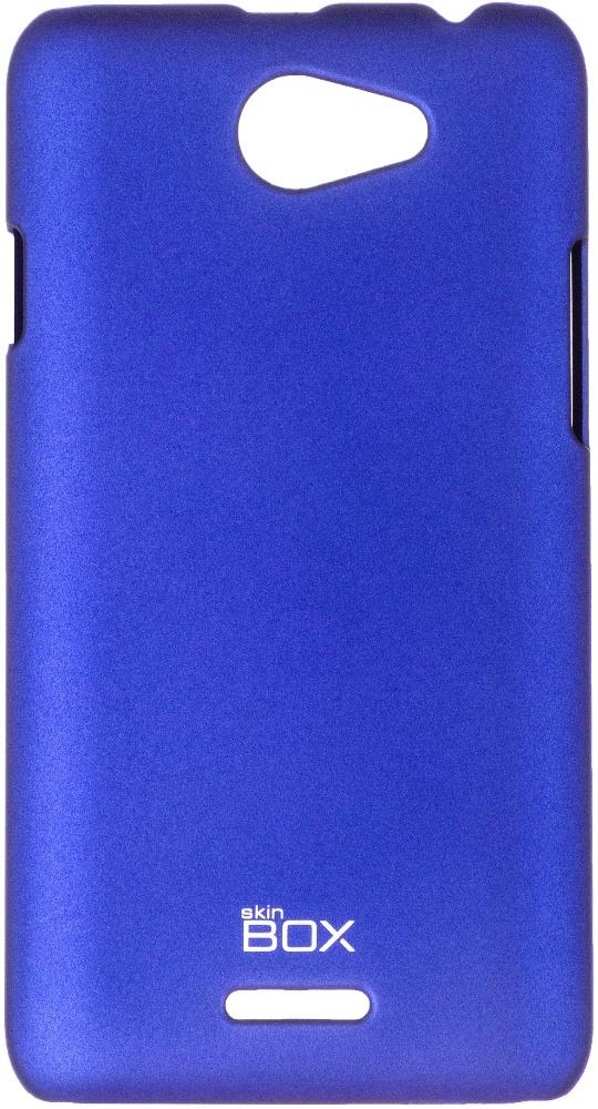 купить Чехол для сотового телефона skinBOX 4People, 4630042526563, синий онлайн