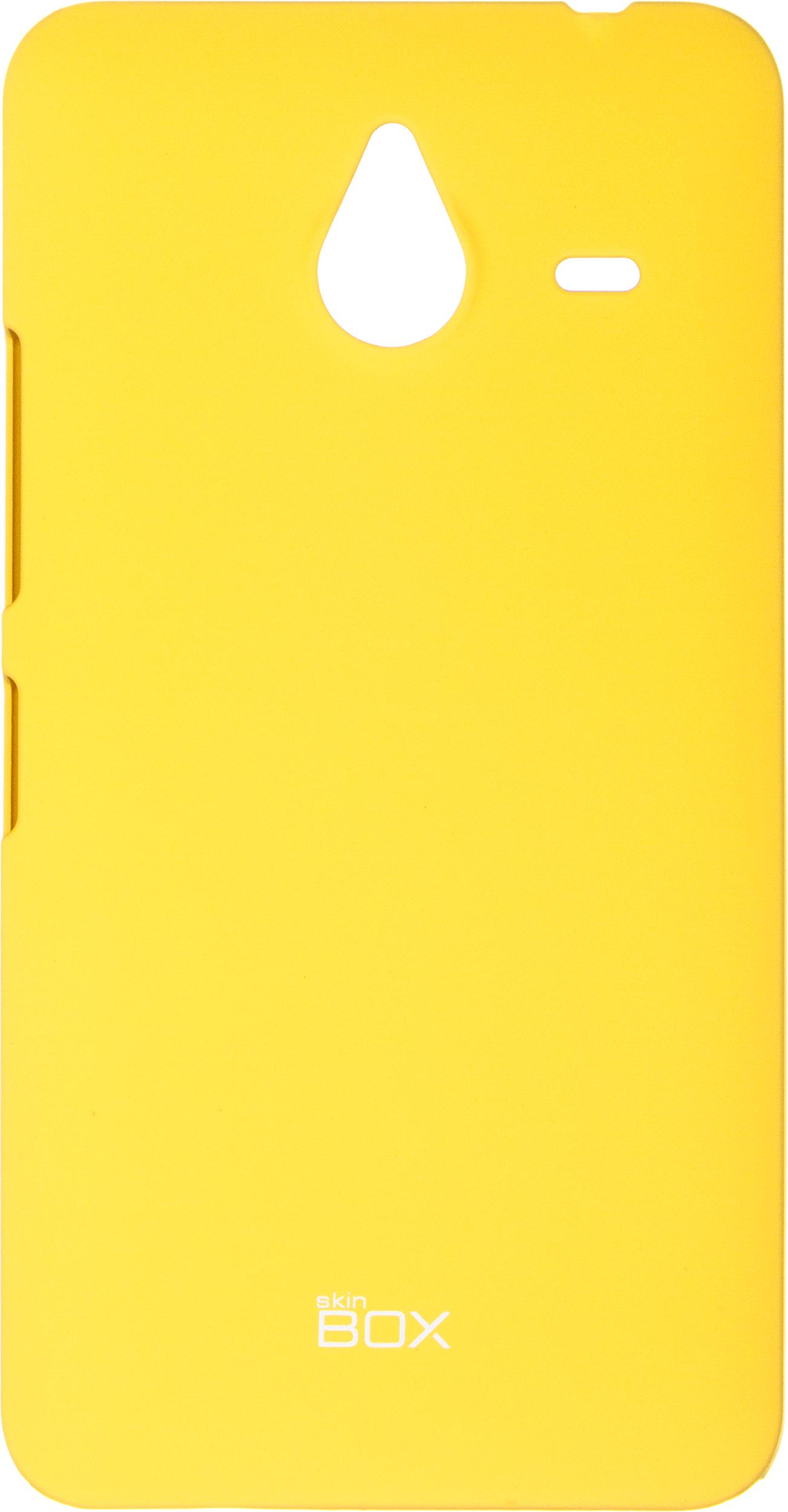 Чехол для сотового телефона skinBOX 4People, 4630042526815, желтый цена