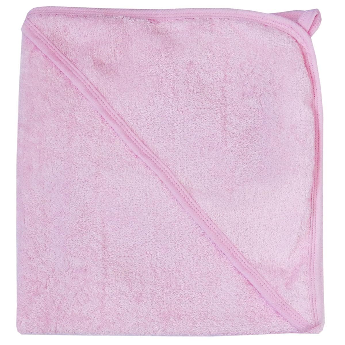Полотенце детское ПАПИТТО Полотенце для купания с уголком 3013, розовый полотенца bebitof baby детское банное полотенце с уголком bbtf 3208 93х83