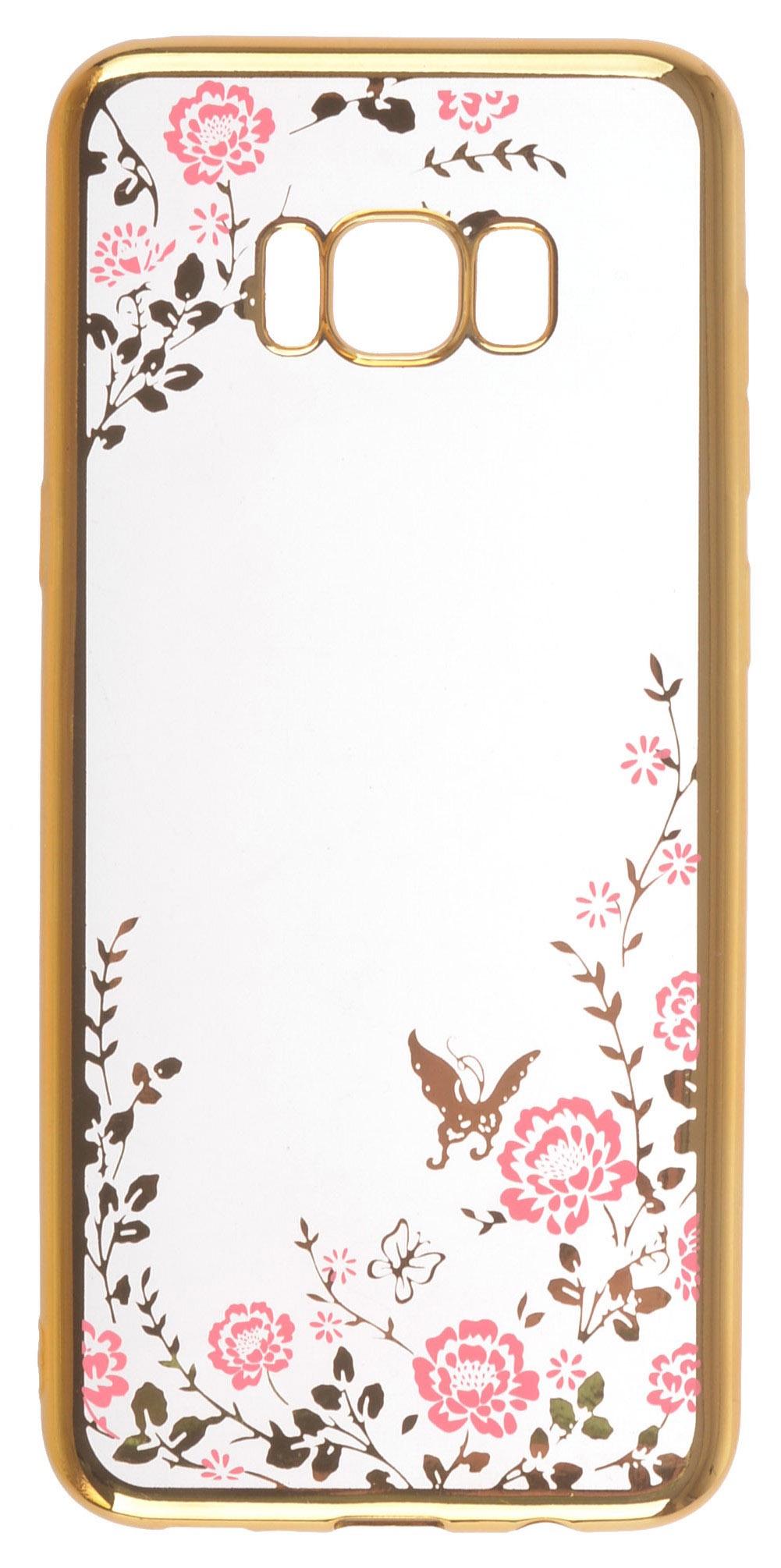 Чехол для сотового телефона skinBOX silicone chrome border color style 1, 4660041402278, розовый