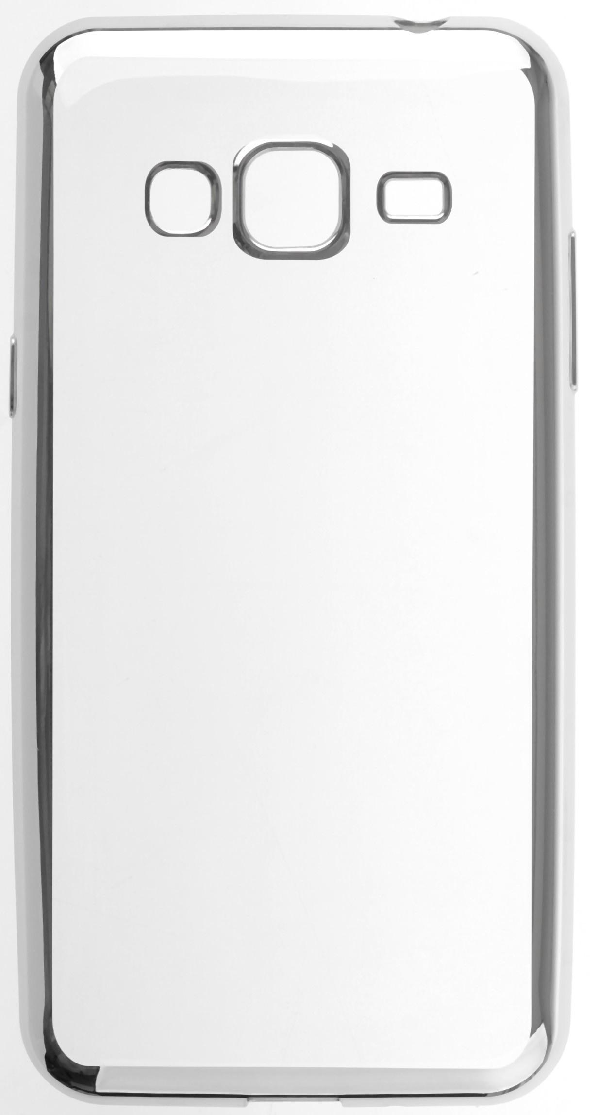 Чехол для сотового телефона skinBOX Silicone chrome border, 4630042528680, серебристый чехол для сотового телефона skinbox silicone chrome border 4630042528697 серебристый