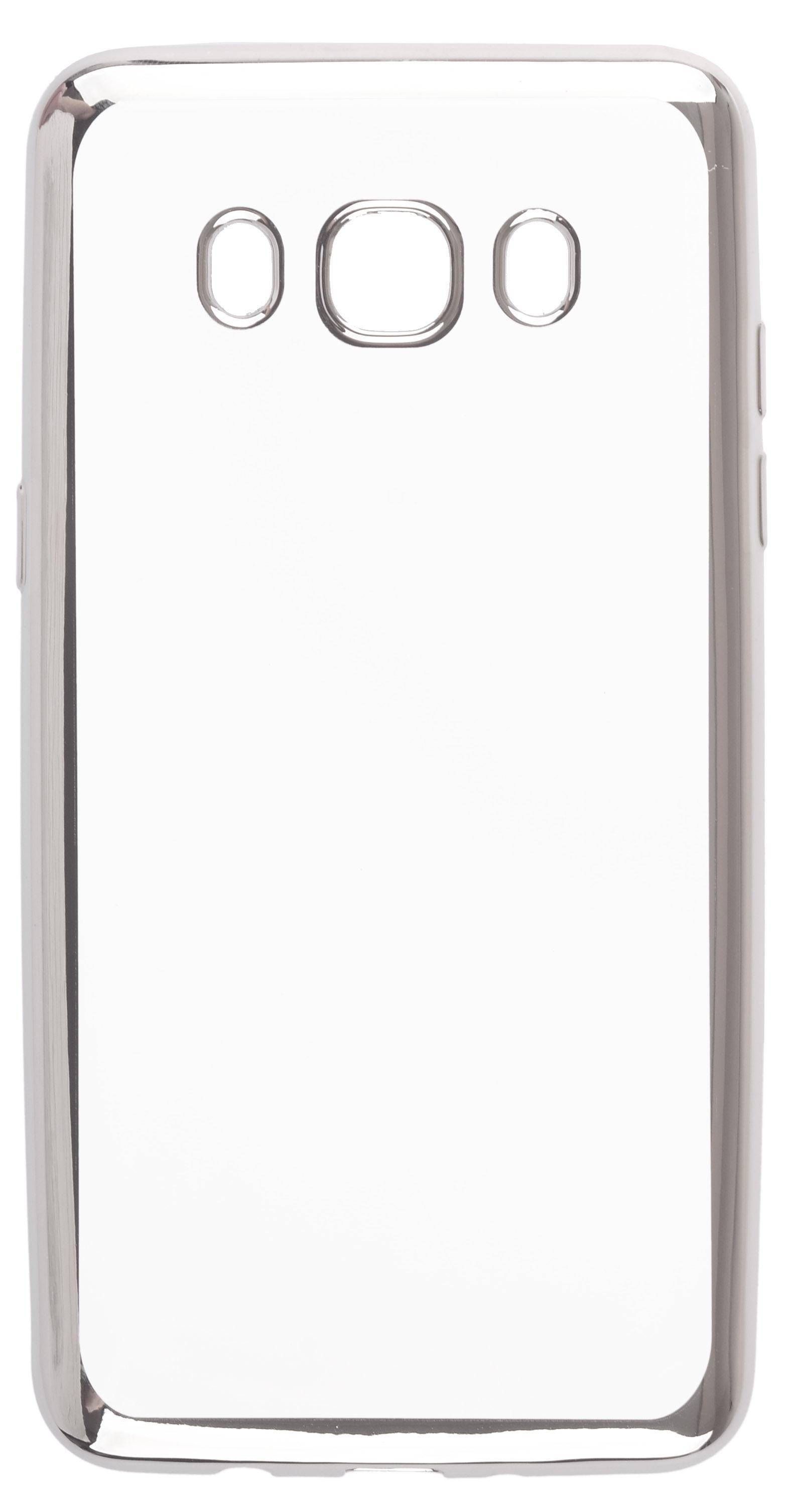 Чехол для сотового телефона skinBOX Silicone chrome border, 4630042528697, серебристый чехол для сотового телефона skinbox silicone chrome border 4630042528697 серебристый