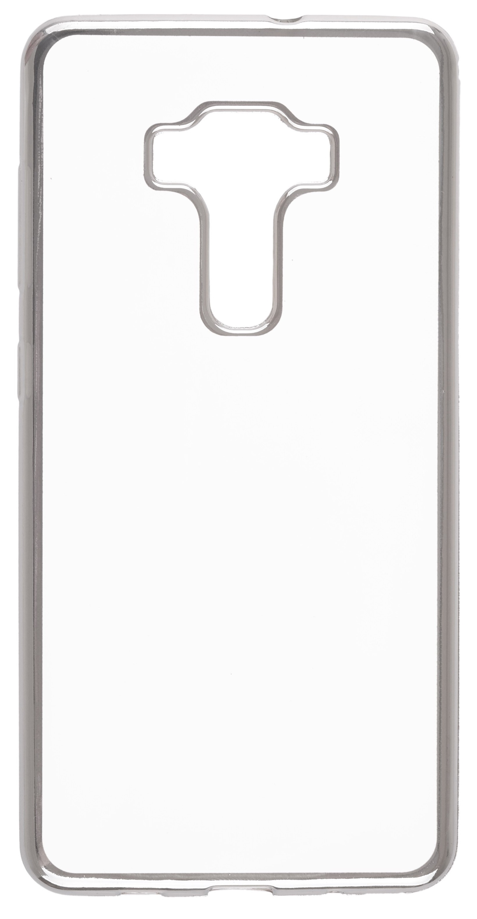 Чехол для сотового телефона skinBOX Silicone chrome border, 4630042528710, серебристый