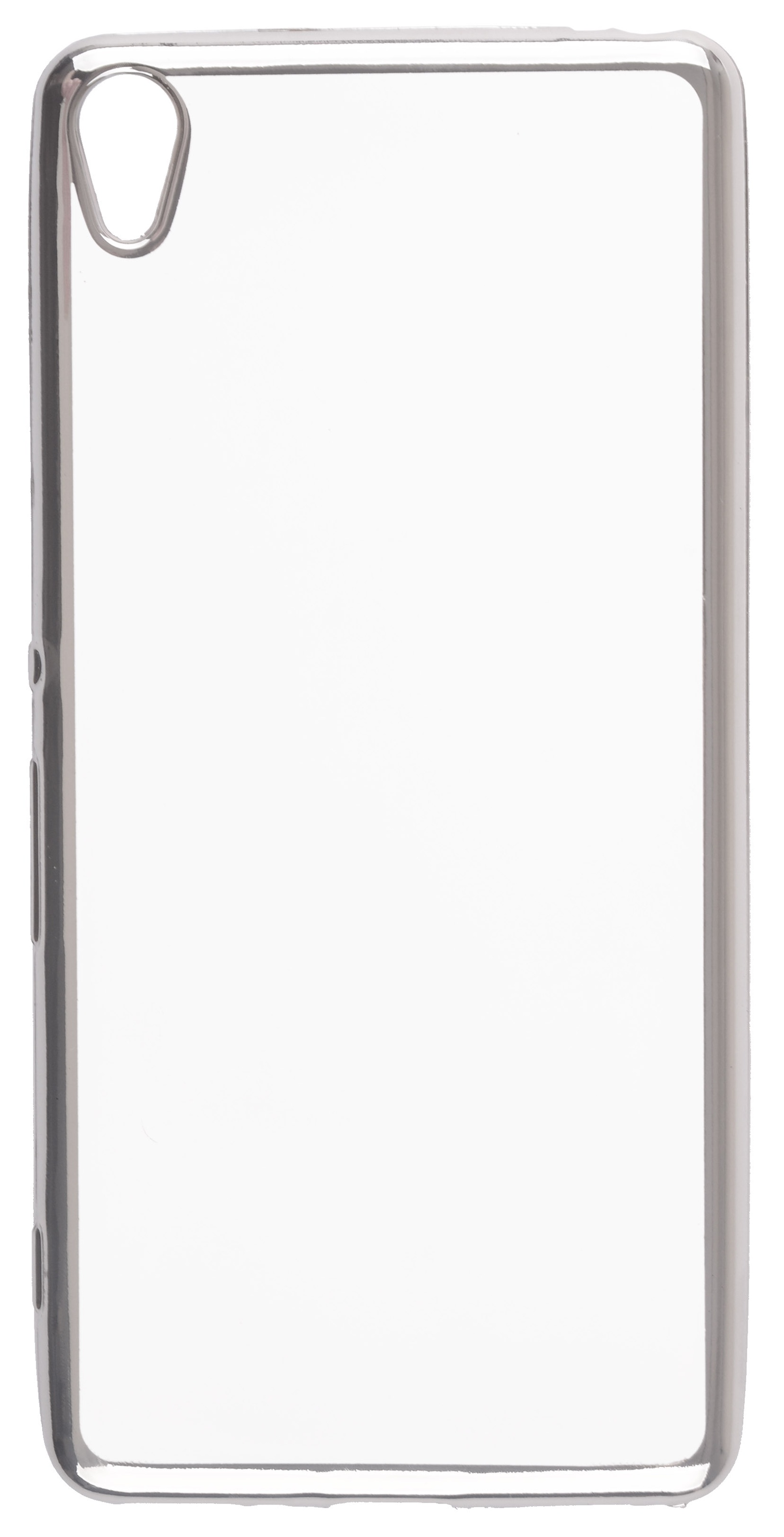 Чехол для сотового телефона skinBOX Silicone chrome border, 4630042528741, серебристый чехол для сотового телефона skinbox silicone chrome border 4630042524514 серебристый