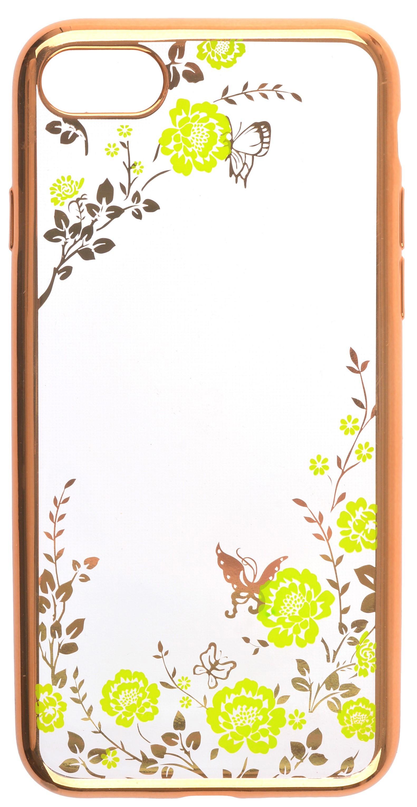 Чехол для сотового телефона skinBOX silicone chrome border color style 1, 4630042529175, зеленый skinbox silicone chrome border color style 1 4people чехол для apple iphone 7 8 green