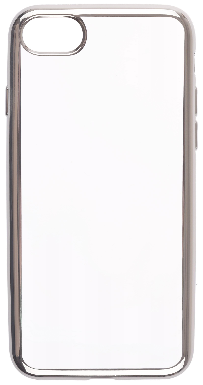 Чехол для сотового телефона skinBOX Silicone chrome border, 4630042529182, серебристый чехол для сотового телефона skinbox silicone chrome border 4660041407891 серебристый