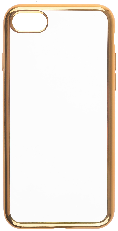 Чехол для сотового телефона skinBOX Silicone chrome border, 4630042529199, золотой skinbox 4people slim silicone чехол накладка для xiaomi redmi 4a transparent