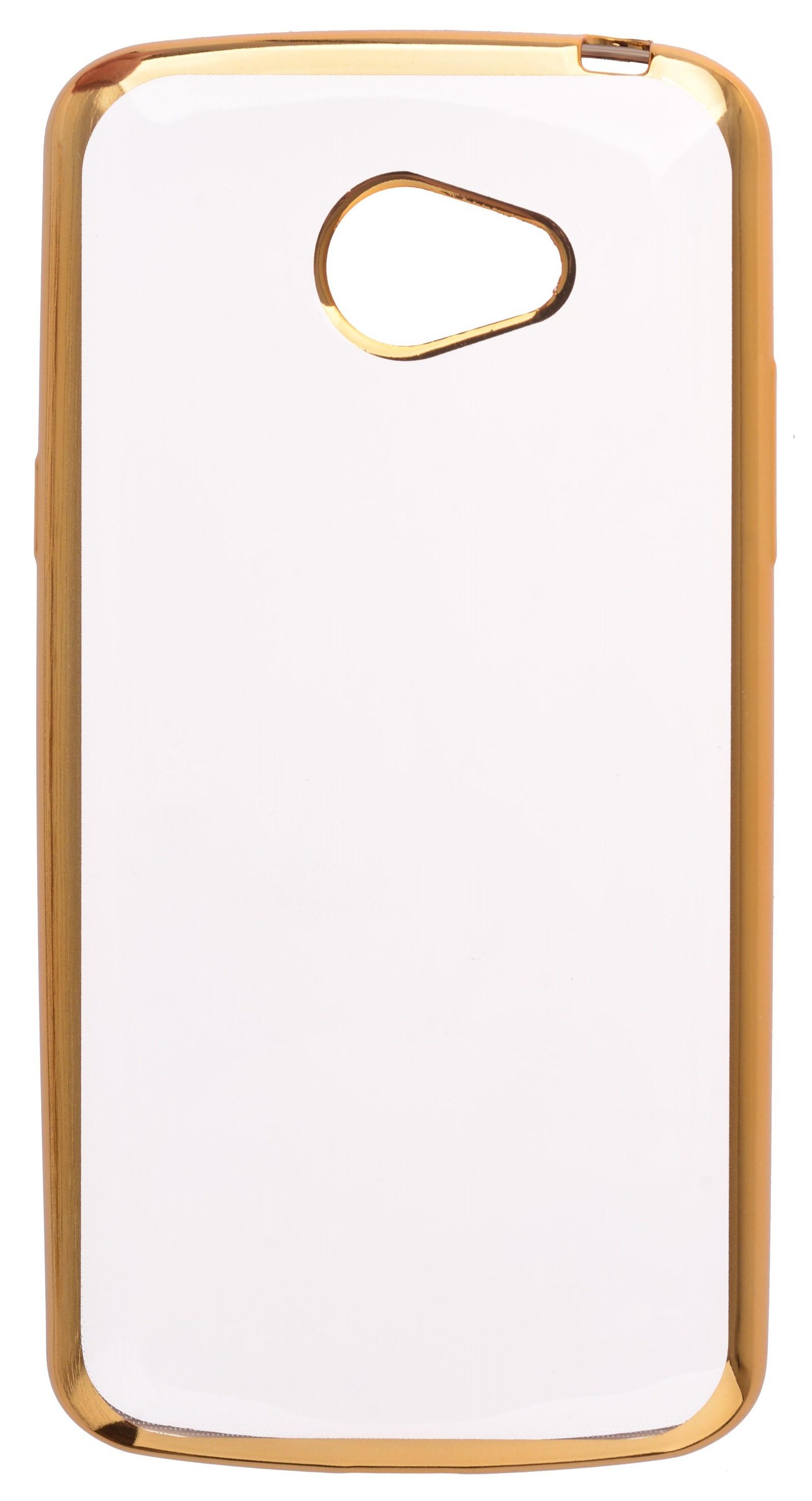 Чехол для сотового телефона skinBOX Silicone chrome border, 4630042529298, золотой цена и фото