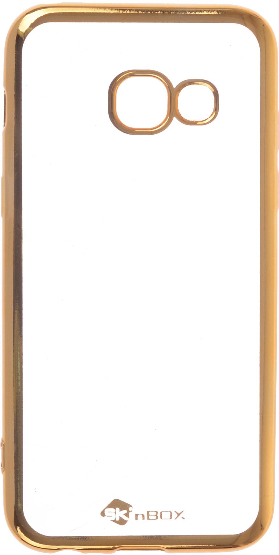 Чехол для сотового телефона skinBOX Silicone chrome border, 4630042529403, золотой skinbox 4people slim silicone чехол накладка для xiaomi redmi 4a transparent