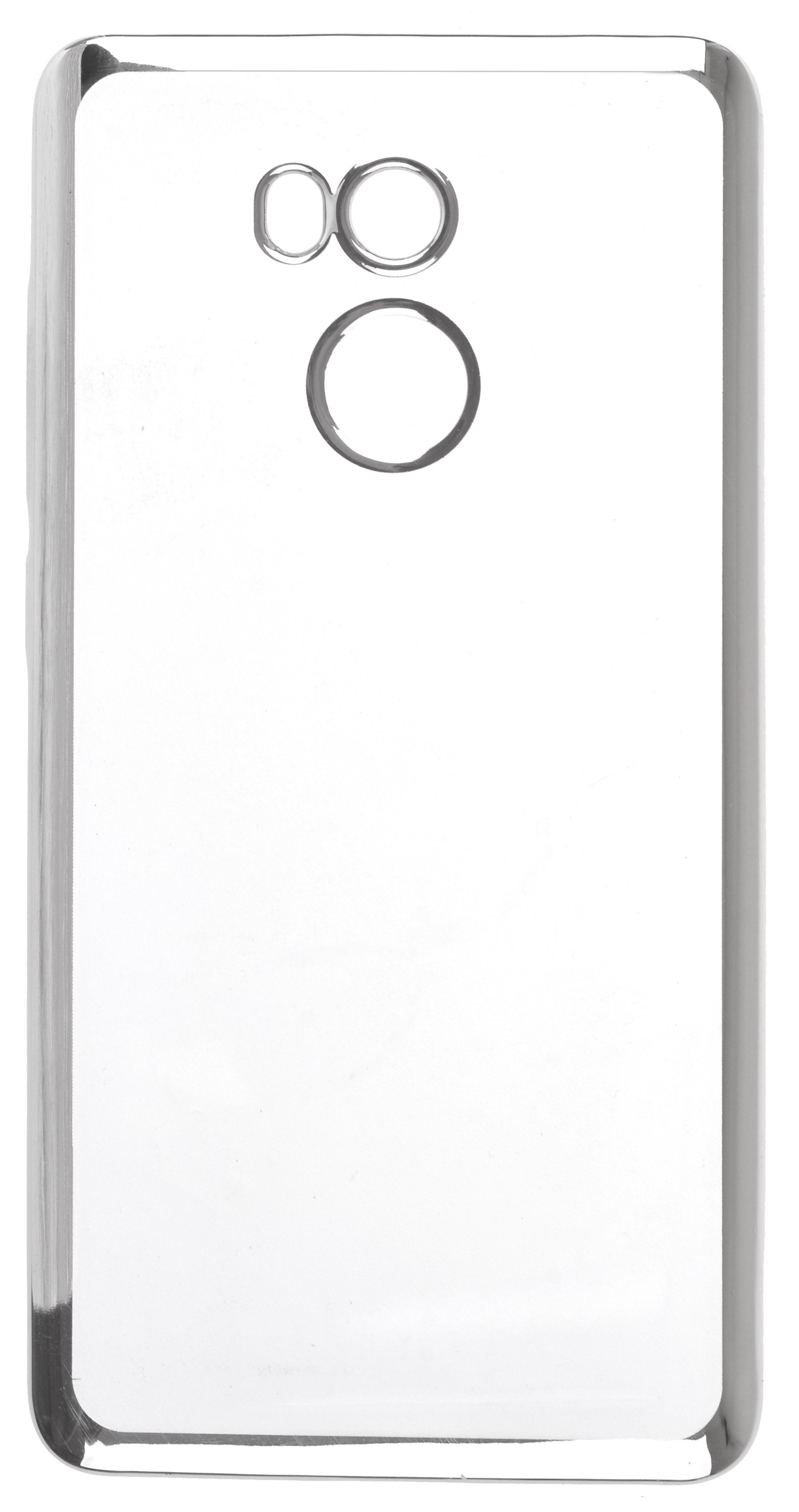 Чехол для сотового телефона skinBOX Silicone chrome border, 4630042529410, серебристый чехол для сотового телефона skinbox silicone chrome border 4630042528697 серебристый