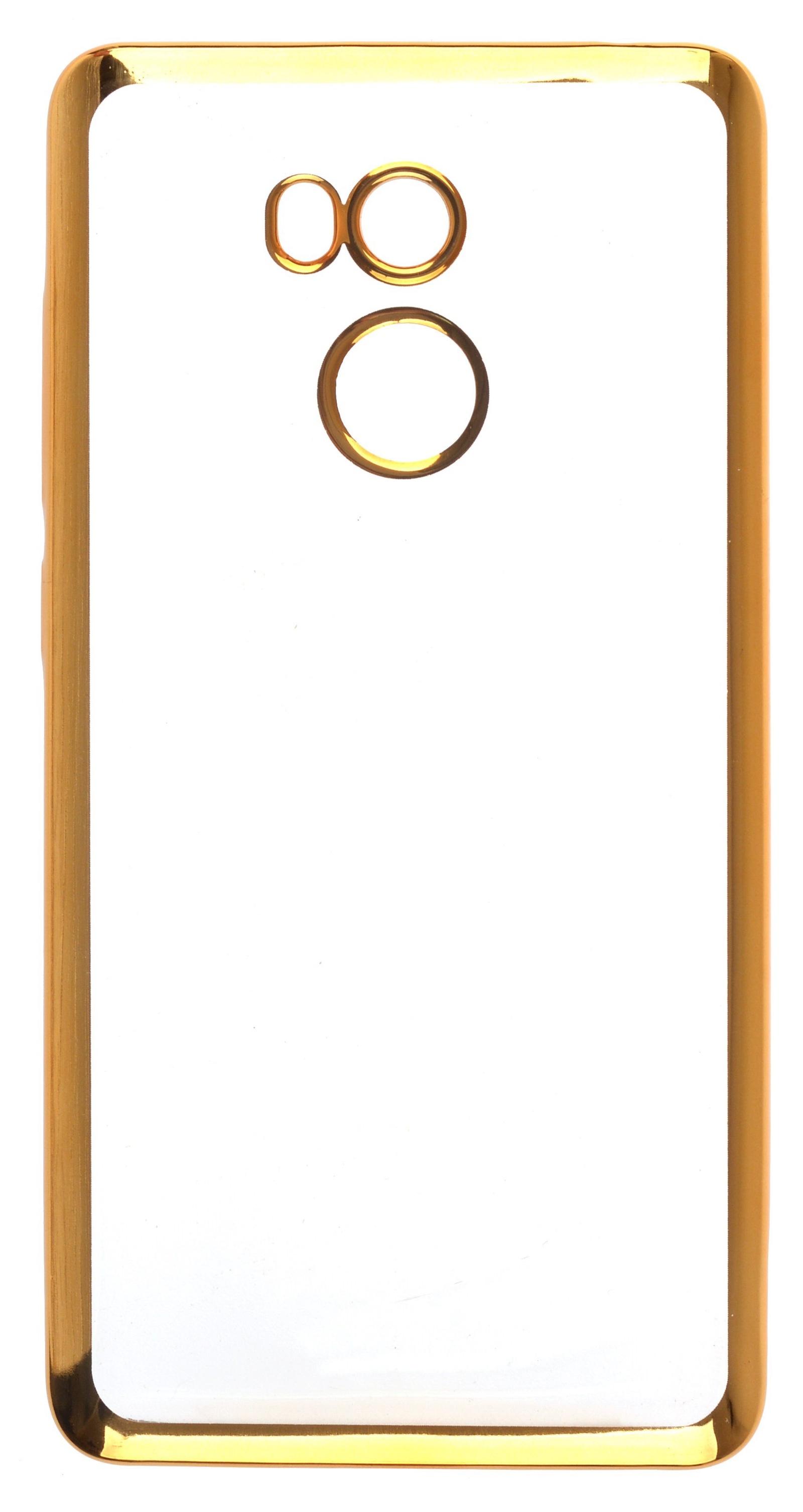 Чехол для сотового телефона skinBOX Silicone chrome border, 4630042529427, золотой цена и фото