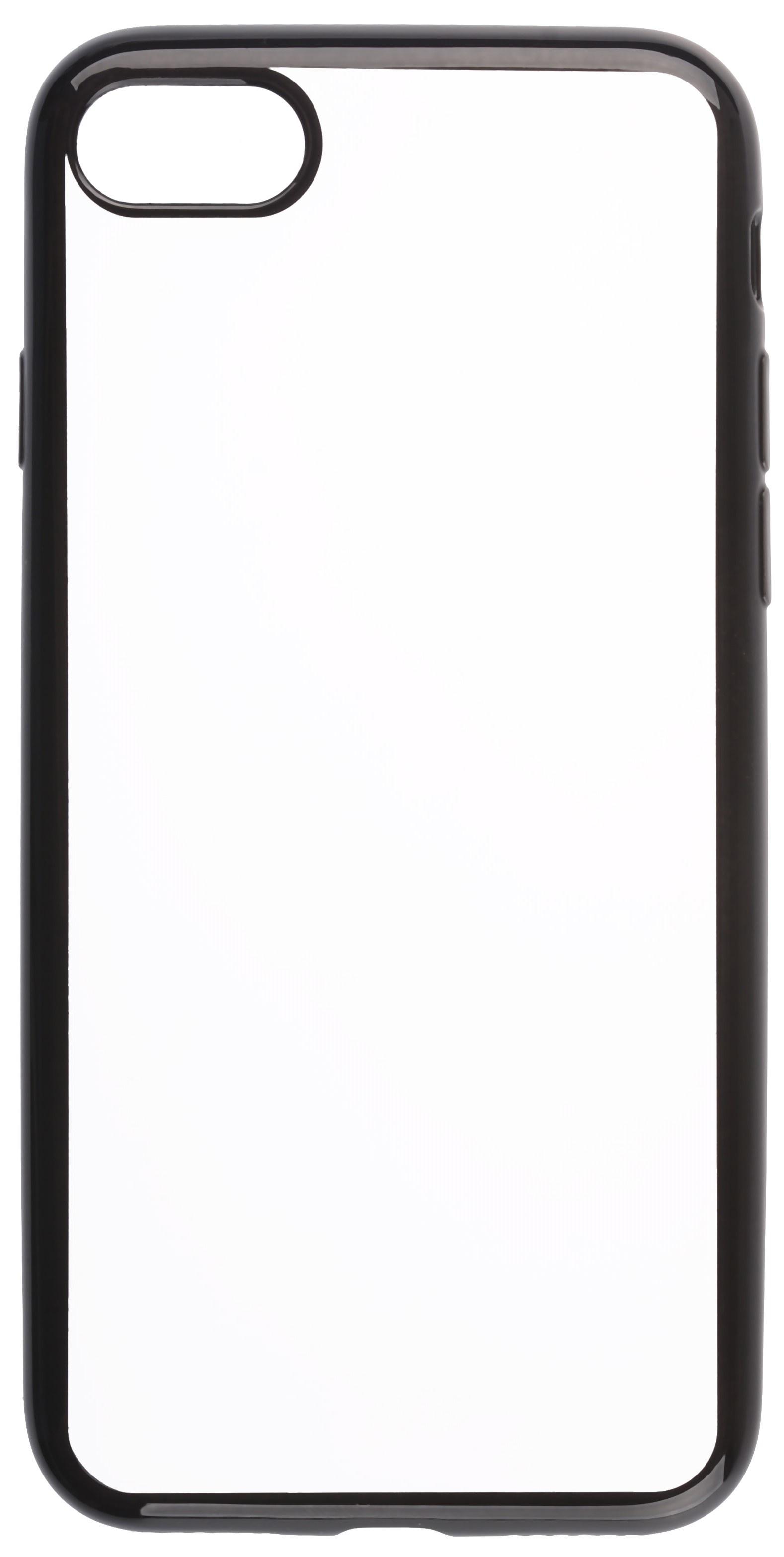 Чехол для сотового телефона skinBOX Silicone chrome border, 4630042529458, черный цена и фото