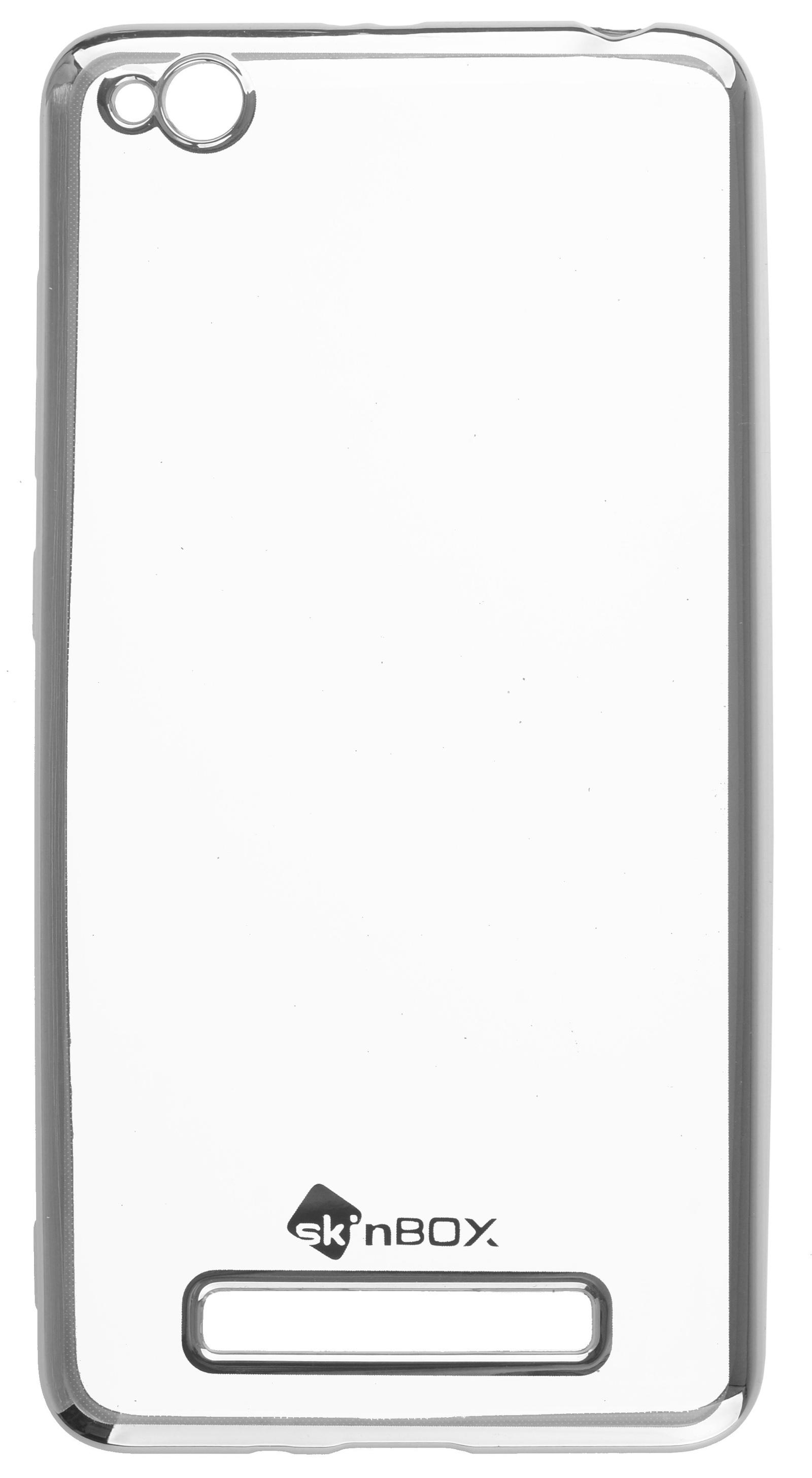 Чехол для сотового телефона skinBOX Silicone chrome border, 4630042529472, серебристый чехол для asus zenfone go zb500kg skinbox 4people silicone chrome border case темно серебристый