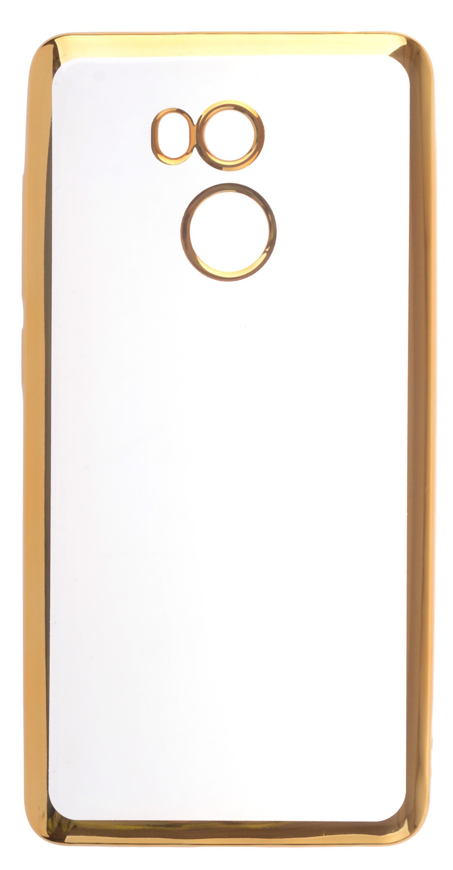 Чехол для сотового телефона skinBOX Silicone chrome border, 4630042529489, золотой аксессуар чехол накладка innovation silicone 0 33mm для apple iphone 5 5s transparent 12001