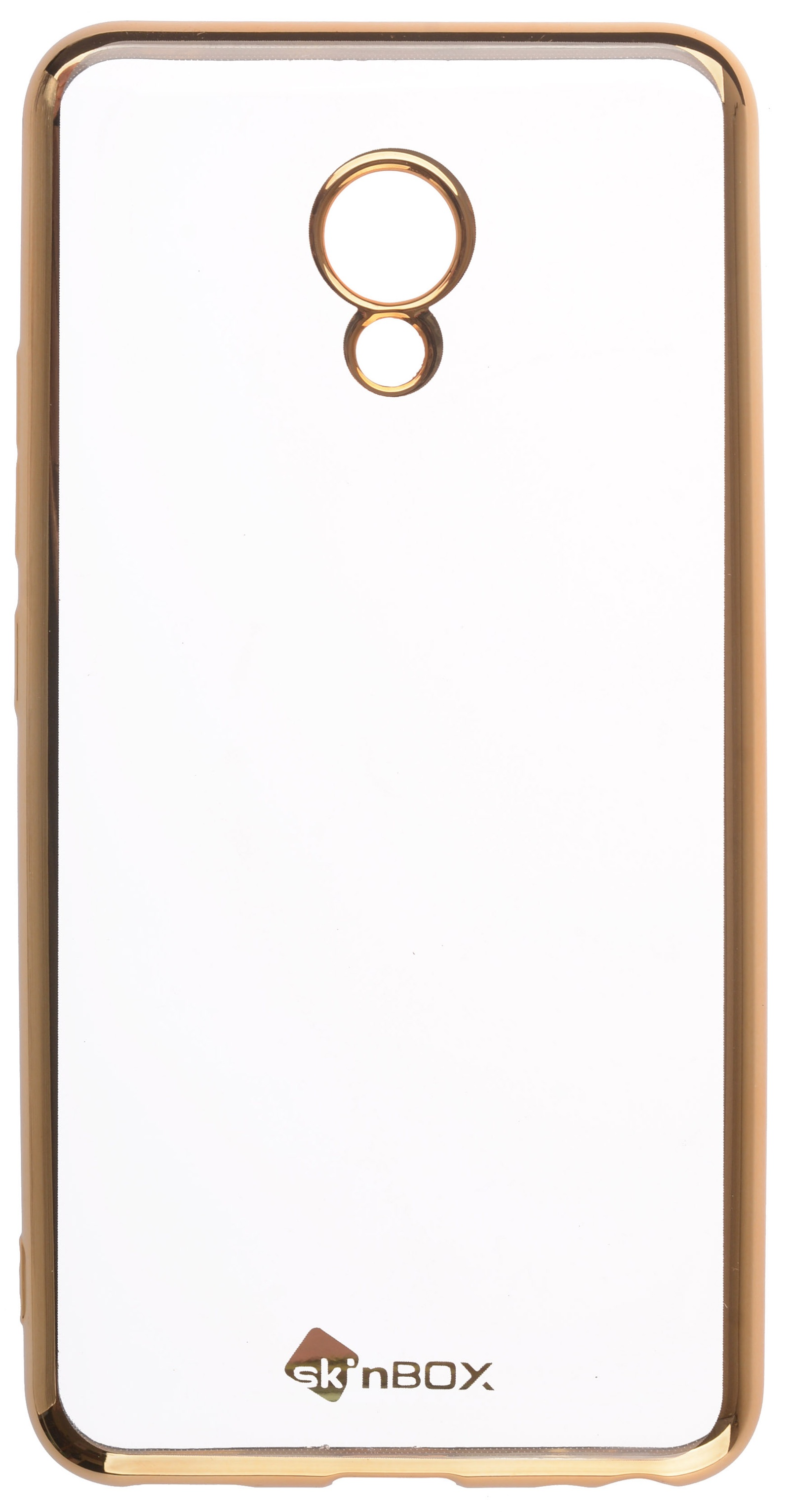 все цены на Чехол для сотового телефона skinBOX Silicone chrome border, 4630042529502, золотой онлайн