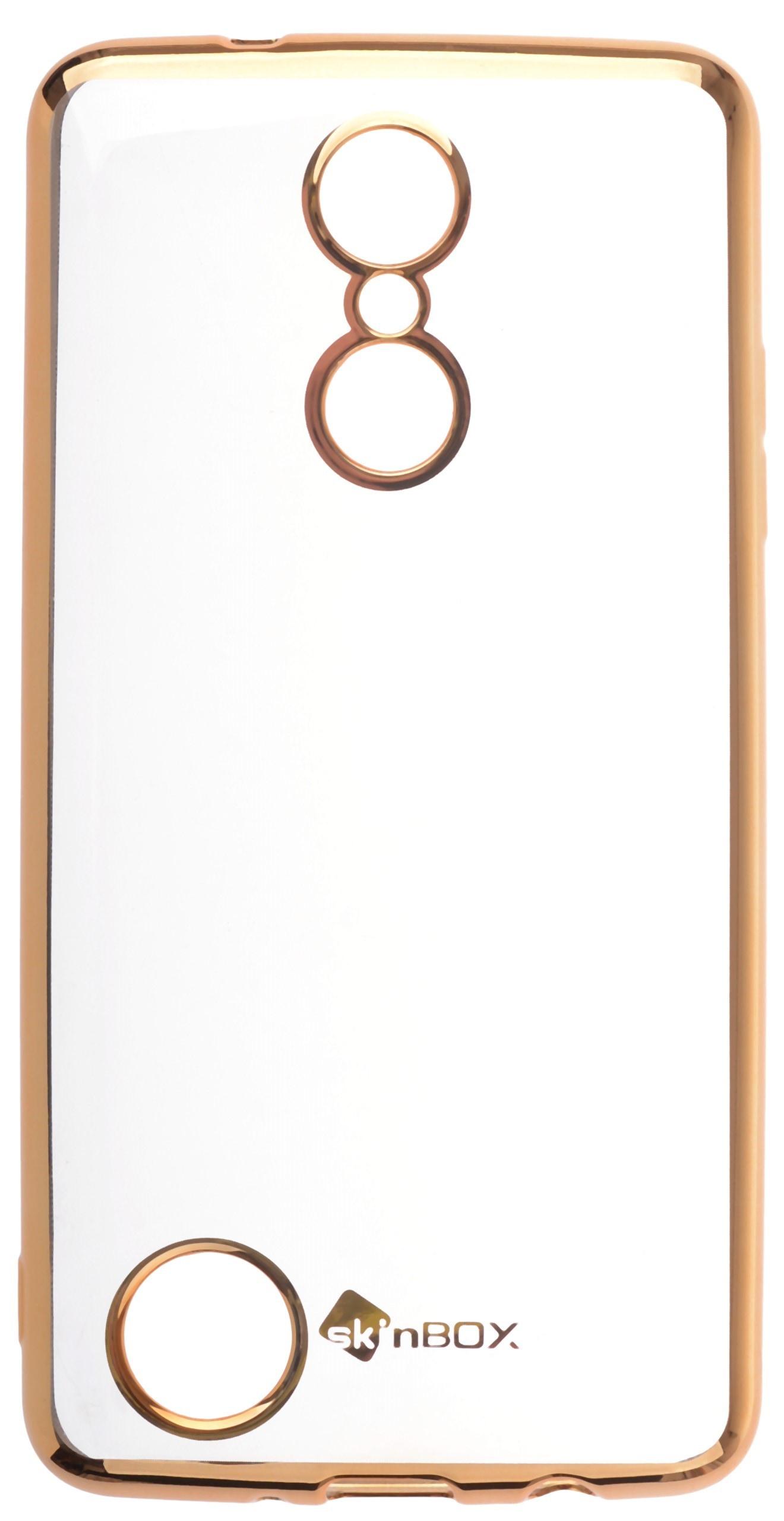 Чехол для сотового телефона skinBOX Silicone chrome border, 4630042529793, золотой skinbox 4people slim silicone чехол накладка для xiaomi redmi 4a transparent