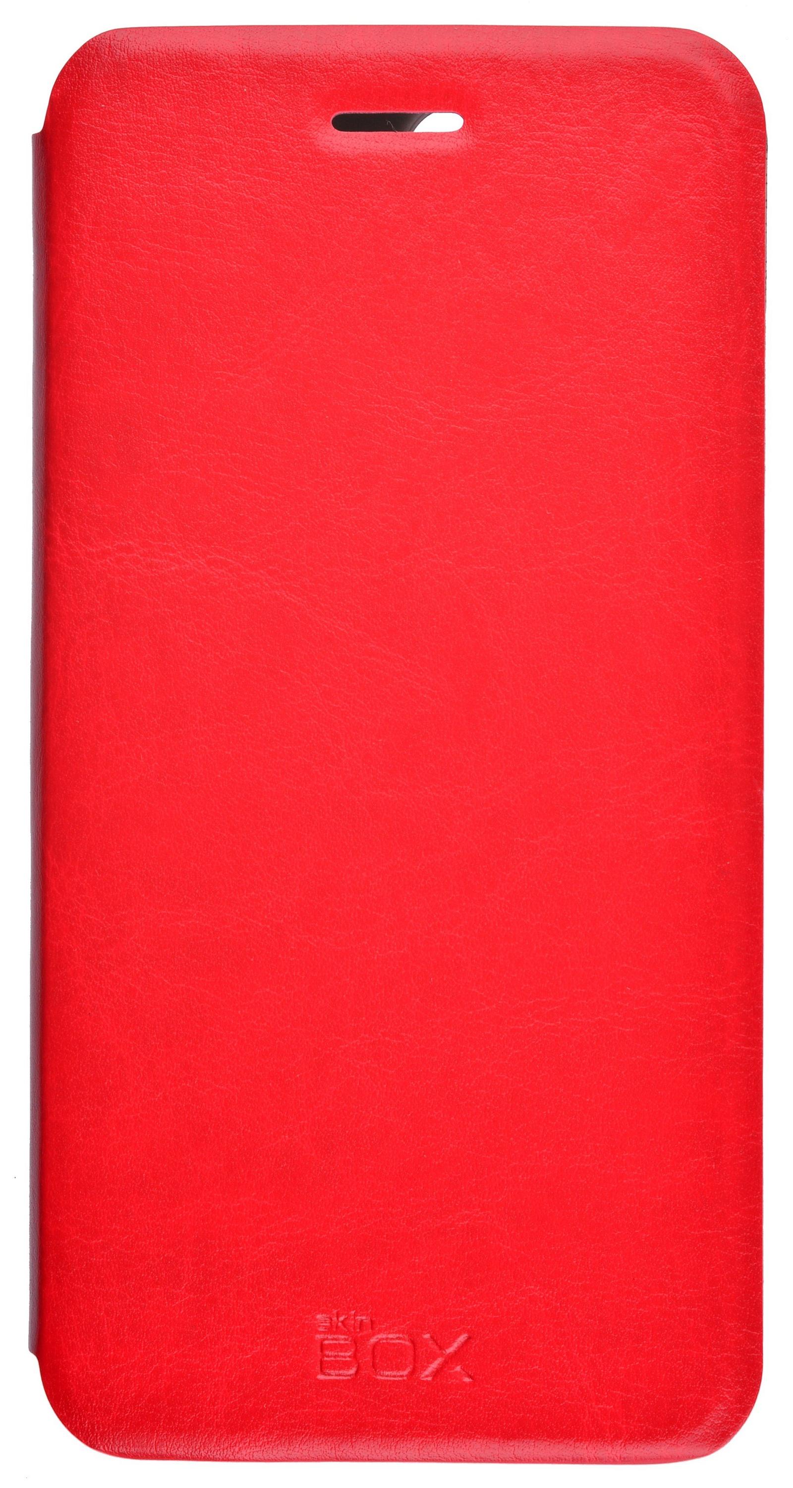 Чехол для сотового телефона skinBOX Lux, 4630042528802, красный цена и фото