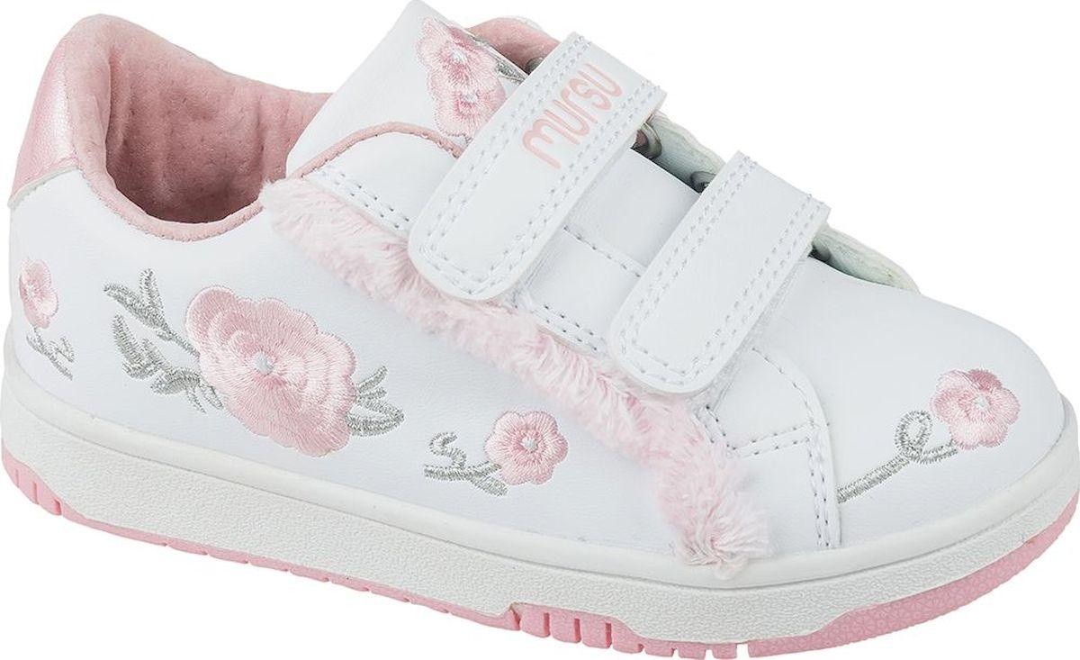 Кроссовки для девочки Mursu, цвет: белый. 208699. Размер 29 кеды для девочки mursu цвет серый 206249 размер 26