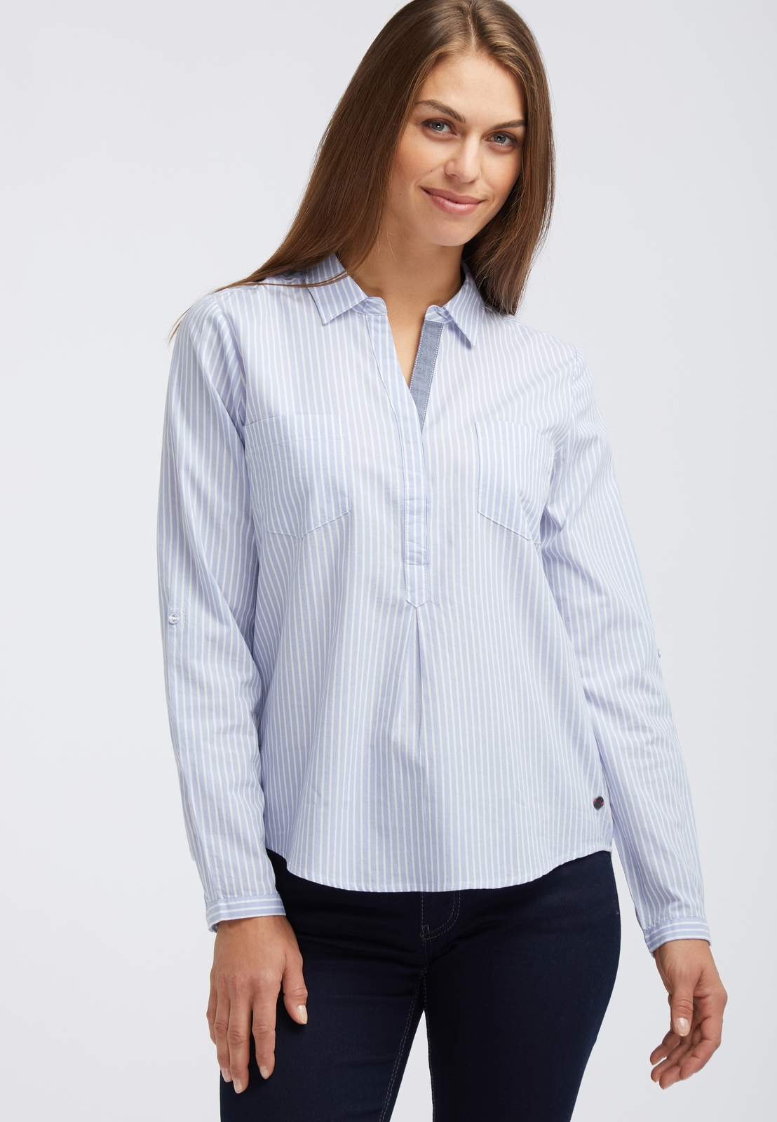 Фото - Туника MUSTANG Striped Tunic plus size front pocket striped asymmetric tunic t shirt