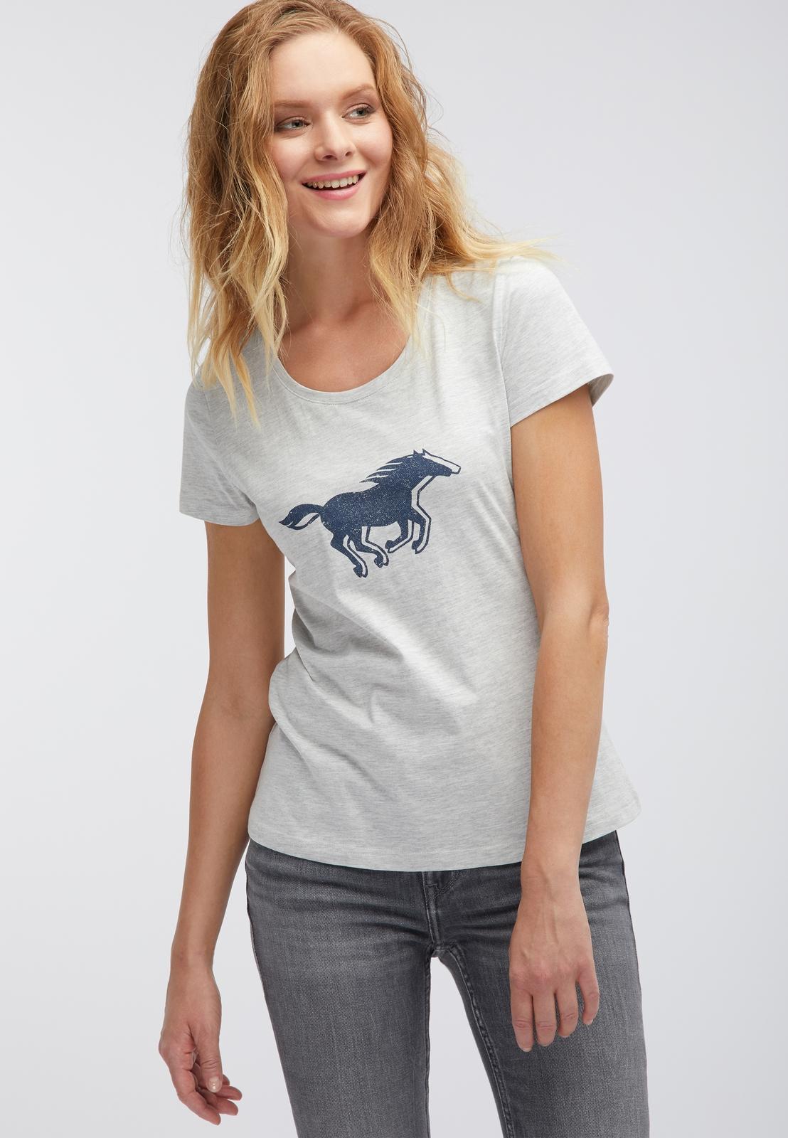 Футболка MUSTANG Logo Tee Special футболка женская mustang logo tee special цвет серый 1006035 4141 размер xs 40 42