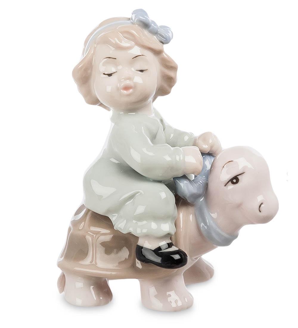 Фигурка декоративная Pavone Девочка верхом на черепашк JP-36/22, 107005