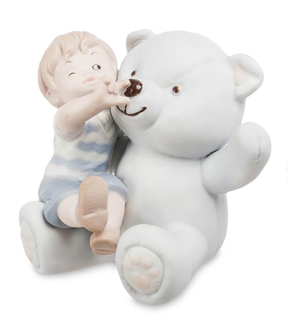 цена на Фигурка декоративная Pavone Мальчик с мишкой бисквит JP-48/31, 107023