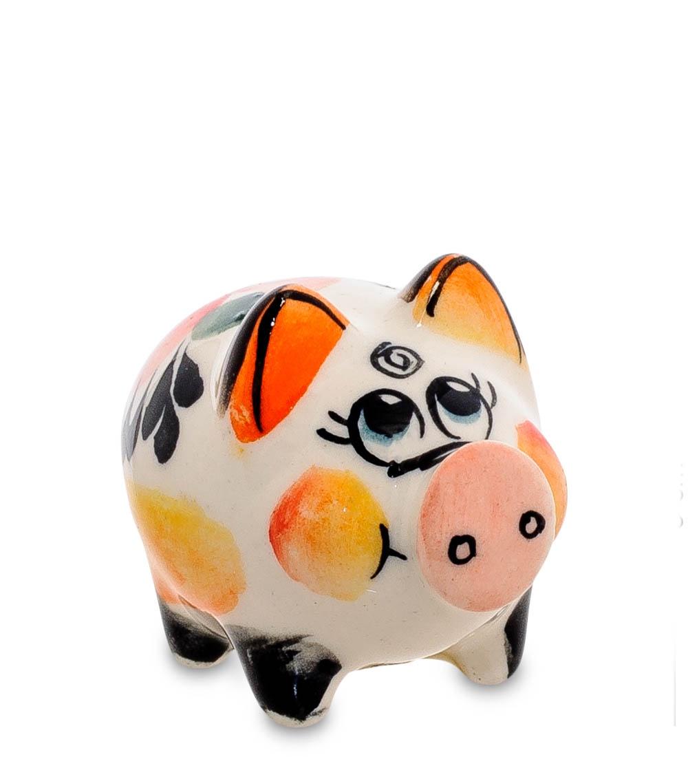 цена на Фигурка декоративная Гжельский фарфор Свинка цв. ГЛ-471, 706181