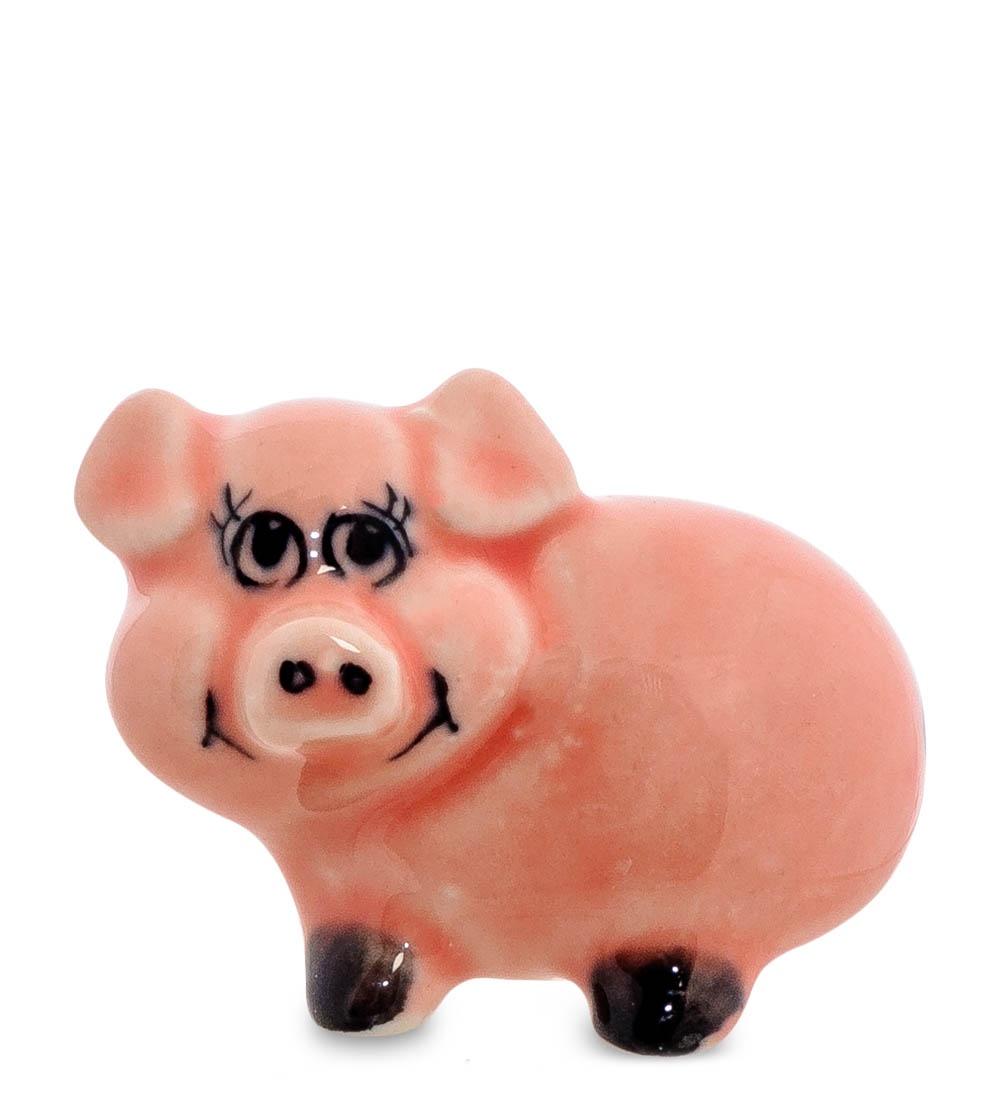 все цены на Фигурка декоративная Гжельский фарфор Поросенок цв. ГЛ-469, 706250 онлайн