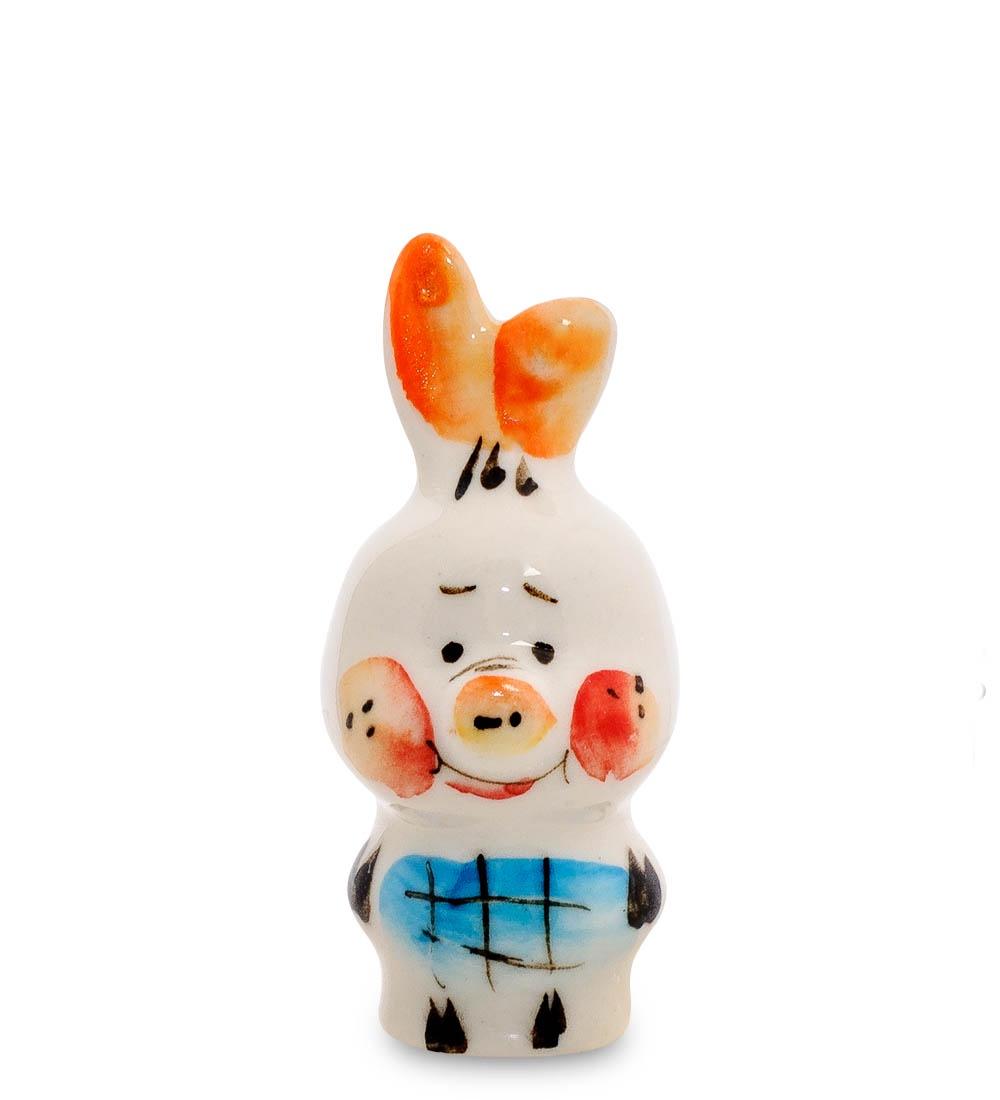 все цены на Фигурка декоративная Гжельский фарфор Пятачок ср. цв. ГЛ-489, 706199 онлайн