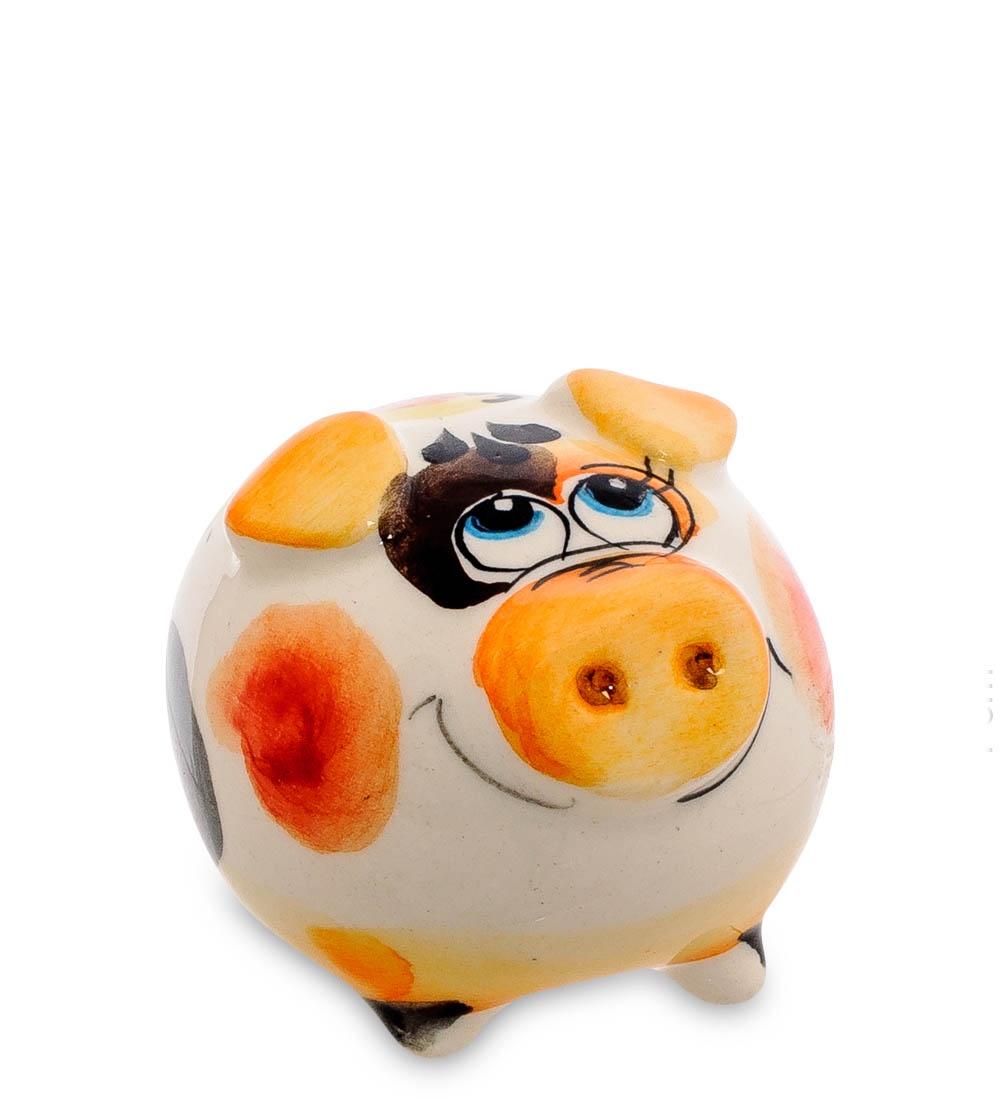цена на Фигурка декоративная Гжельский фарфор Свинка цв. ГЛ-461, 706162