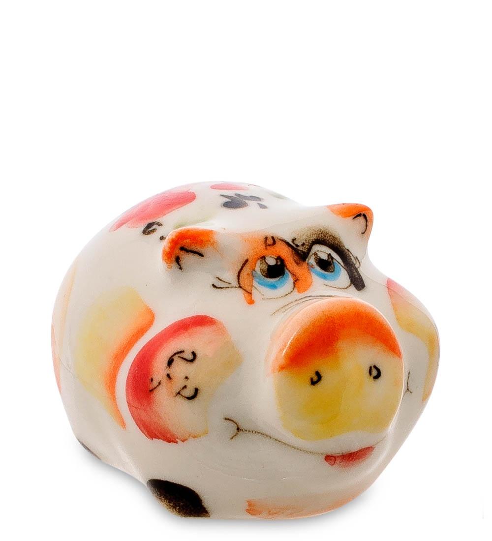 все цены на Фигурка декоративная Гжельский фарфор Свинка цв. ГЛ-481, 706191 онлайн