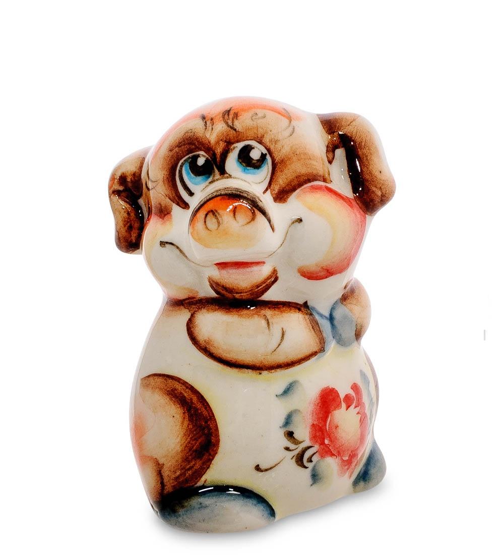 все цены на Фигурка декоративная Гжельский фарфор Свинка цв. ГЛ-477, 706187 онлайн