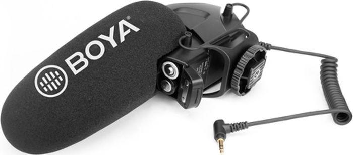 Микрофон-пушка накамерный конденсаторный Boya BY-BM3030 суперкардиоидный, для фото и видеокамер, диктофонов с разъемом 3,5 мм, 40 Гц - 20кГц, 78 дБ