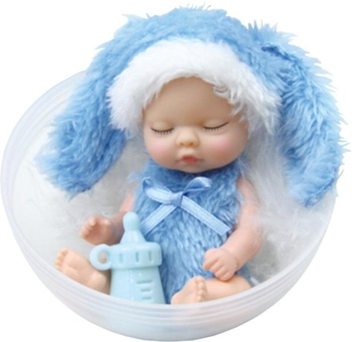 Мини-кукла FindusToys Infant Doll Sugar DOLLs голубой, розовый, желтый, белый игровой набор с куклой findustoys infant doll fd 35 008 1 фиолетовый
