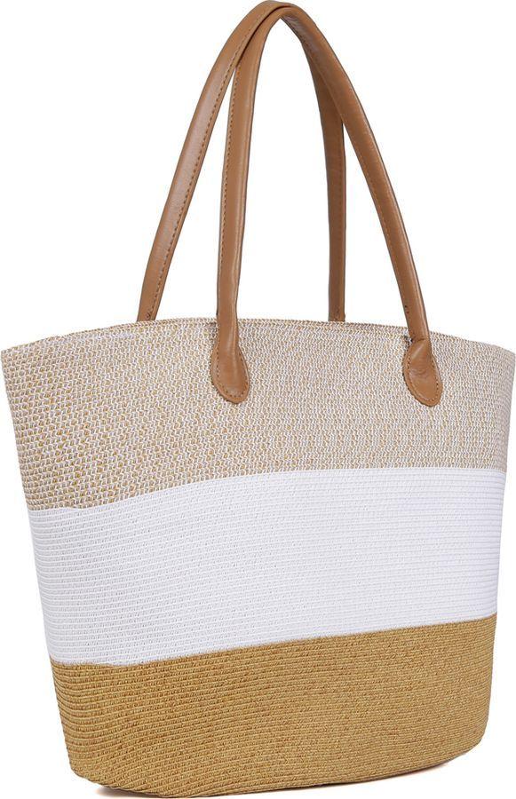 купить Сумка женская Fabretti, бежевый, белый, GB14-1/4 beige/white по цене 2222 рублей