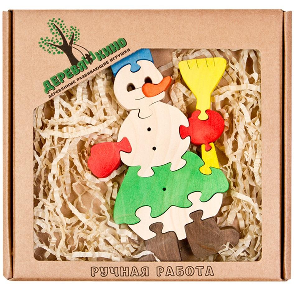 Развивающая игрушка Деревяшкино Снеговик развивающая игрушка деревяшкино танк