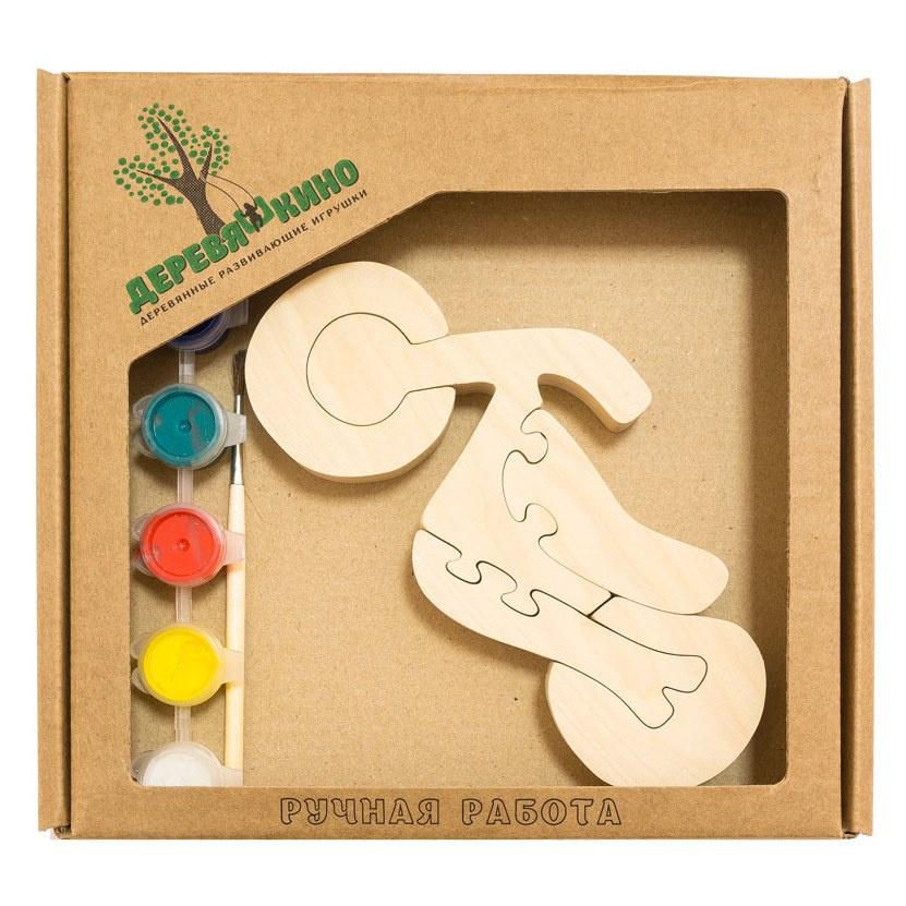 Развивающая игрушка Деревяшкино Мотоцикл в коробке