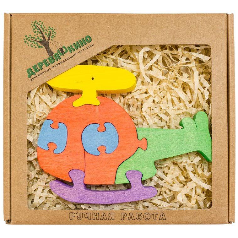 Развивающая игрушка Деревяшкино вертолет развивающая игрушка деревяшкино танк