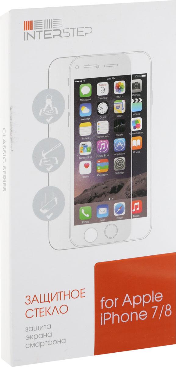 Защитное стекло Interstep для Apple iPhone 7/8, глянцевое