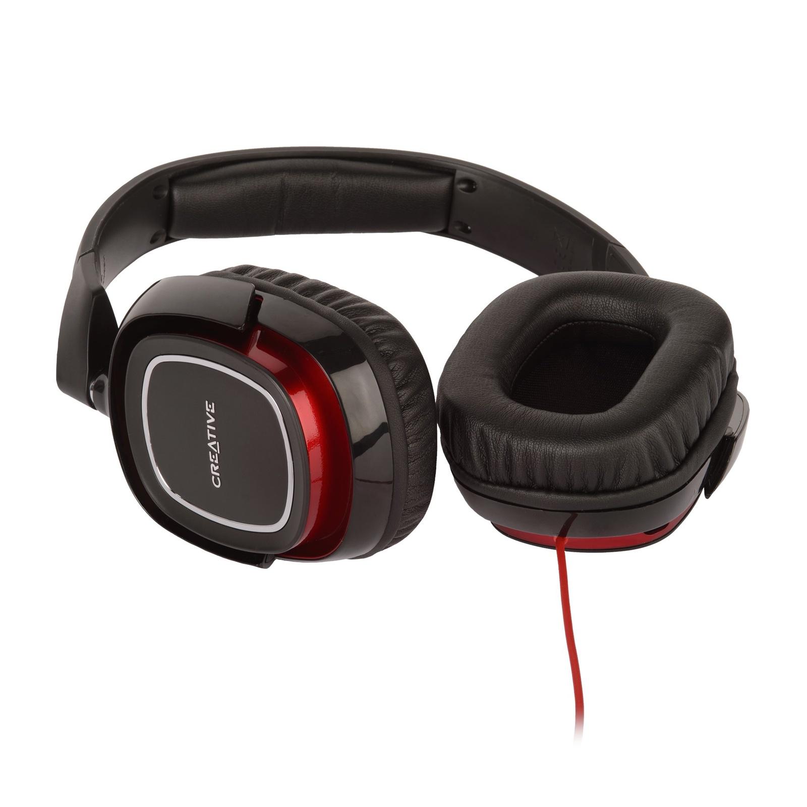 Компьютерная гарнитура Creative DRACO (HS-880), черный, красный creative hs 730i