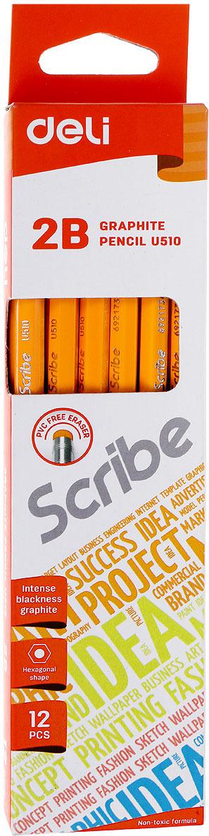 Набор карандашей Deli Scribe, 2B, 12 шт burton scribe est