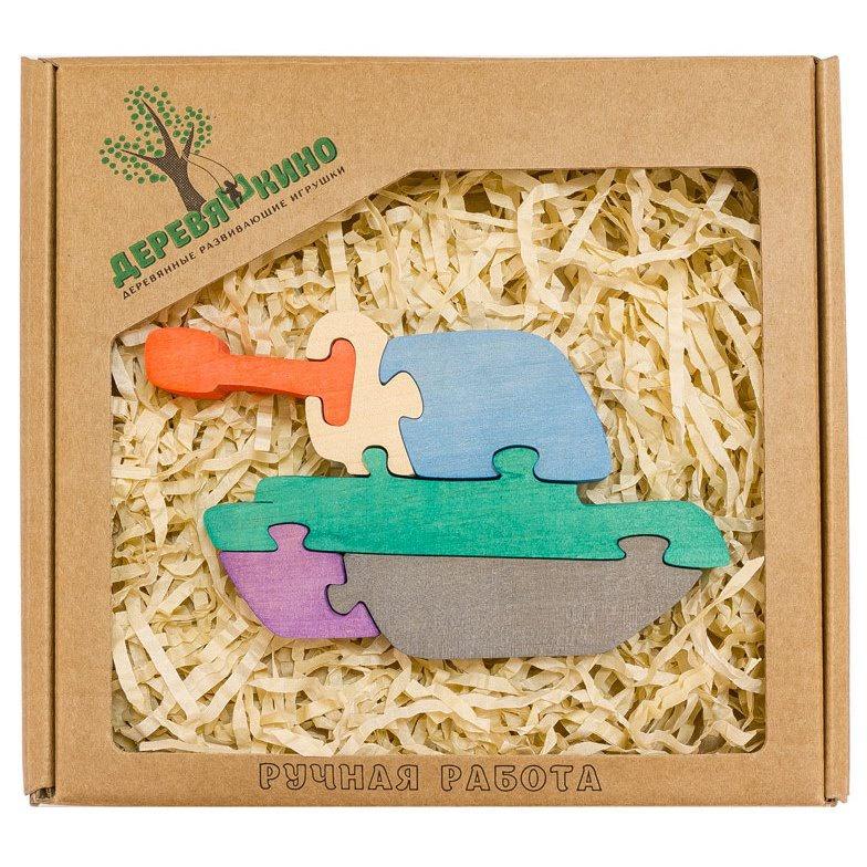 Развивающая игрушка Деревяшкино танк развивающая игрушка деревяшкино танк