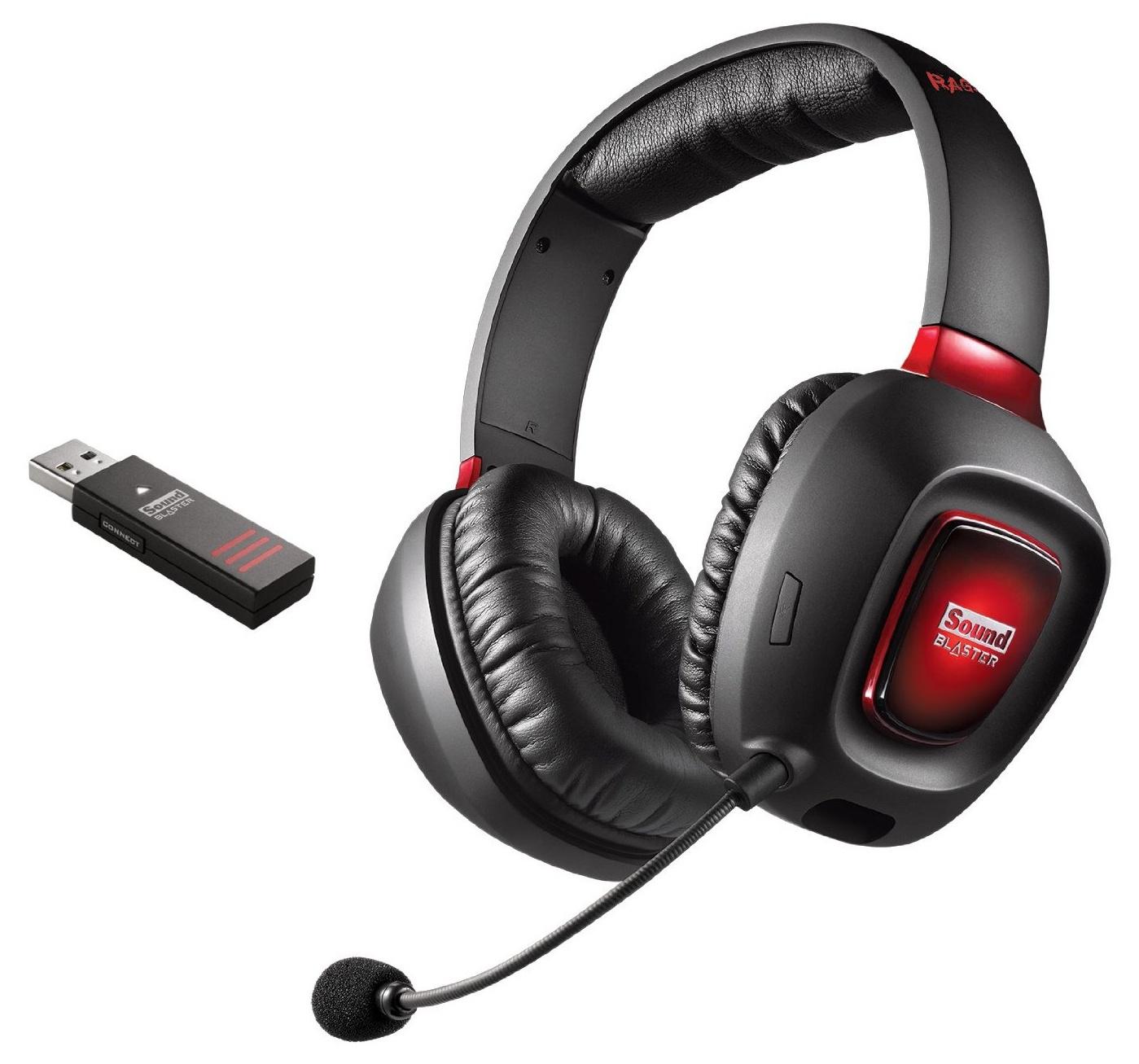 Игровые наушники Creative SOUND BLASTER TACTIC3D RAGE V2.0 Wireless, 70GH022000003, черный, красный наушники беспроводные creative sound blaster jam black