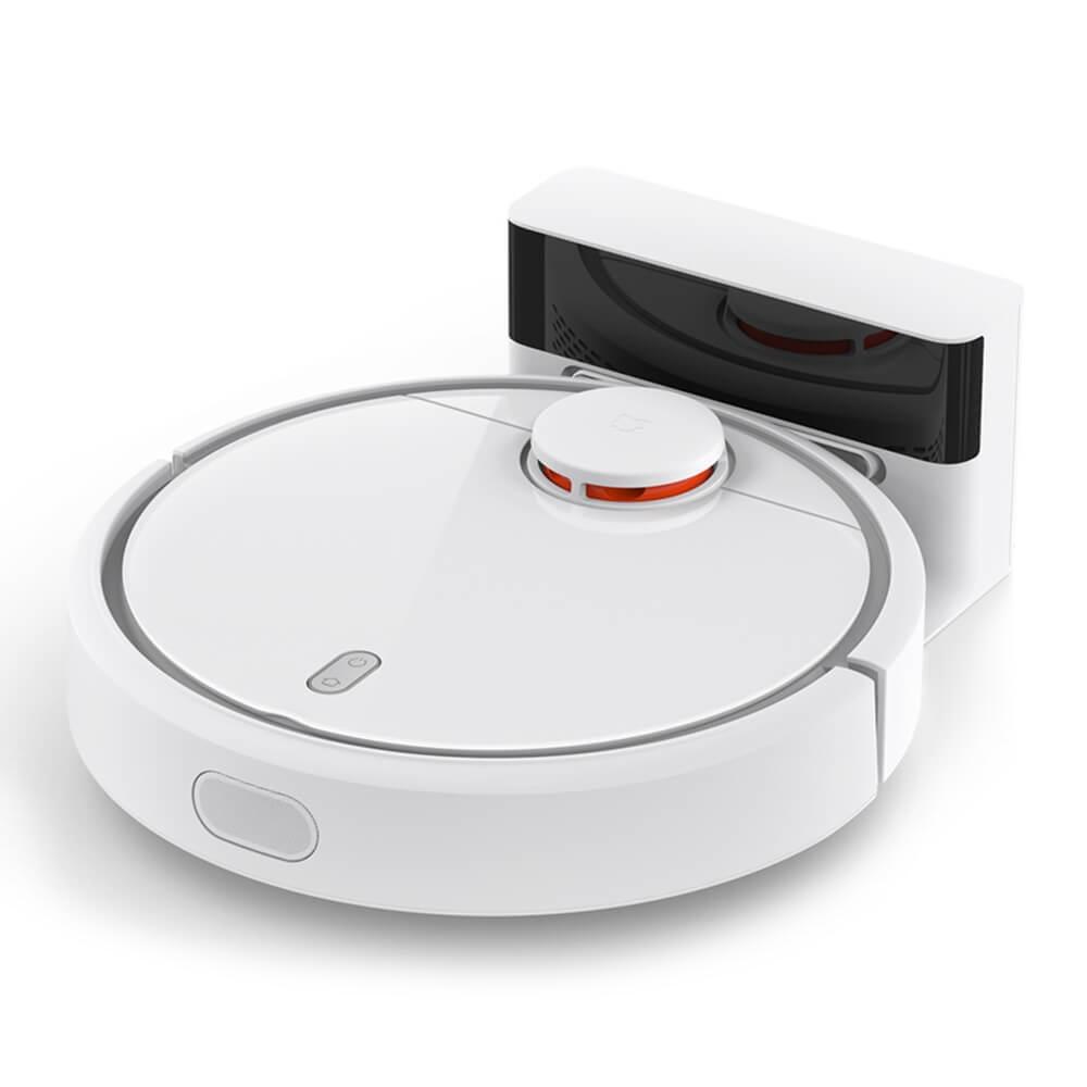 Робот-пылесос Xiaomi SKV4022GLSKV4022GLОсновные характеристики-Тип: робот - Уборка: сухая -Потребляемая мощность: 55 Вт -Пылесборник: циклонный фильтр -Объем пылесборника: 0.5 л -Уровень шума: 50 дБ Управление-Тип управления: электронный -Регулятор мощности: на корпусе Фильтрация воздуха-Фильтр тонкой очистки: есть -Модель фильтра тонкой очистки: HEPA -Класс HEPA-фильтра: НЕРА 11 -Микрофильтр: в комплекте -Модель микрофильтра: Mi Robot Vacuum Filter -Система очистки фильтра: ручная Насадки- Тип насадки: электрощетка Режимы работы-Количество режимов работы: 3 -Режимы работы: частичная уборка, спящий режим - Автоматическая уборка: да -Таймер: да -Таймер на каждый день недели: да -Автоматическое возвращение на базу: да Ориентация в пространстве-Ограничитель зоны уборки: виртуальная стена -Датчики: инфракрасный луч -Датчик определения препятствий: да -Датчик определения ступенек: да -Составление плана помещения: да Индикация-Индикация включения: да -Индикация режима работы: да -Индикатор уровня зарядки аккумулятора: да Дополнительные характеристики-Парковка: горизонтальная -Установка на зарядное устройство: автоматическая - Боковая щеточка: да Комплектация-Зарядное устройство: в комплекте -Подставка-зарядное устройство: в комплекте -Инструкция: да Корпус- Цвет: белый -Материал корпуса: пластик Питание- Источник питания: аккумулятор -Тип аккумулятора: Li-Ion -Емкость аккумулятора: 5200 мАч -Напряжение аккумулятора: 11.4 В -Время работы от аккумулятора: 150 мин Размеры и вес- Высота: 9.6 см - Ширина: 34 см - Глубина: 34...