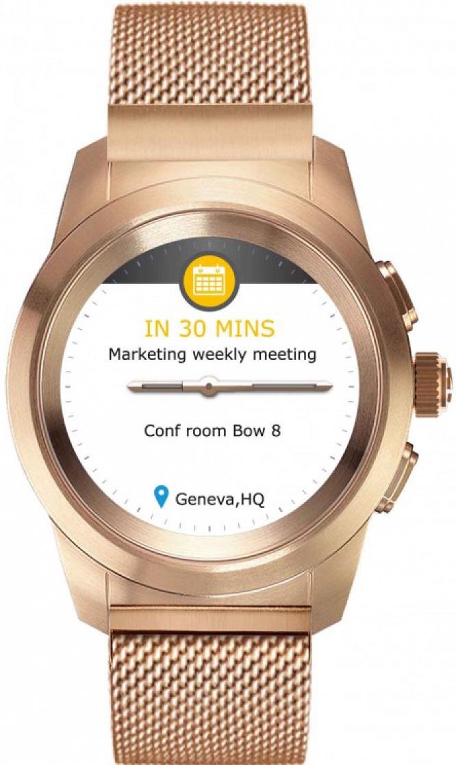 Умные часы MyKronoz Смарт часы гибридные ZeTime Elite Regular, 00-00000357, золотой гибридные смарт часы mykronoz zetime original regular цвет матовое серебро черный